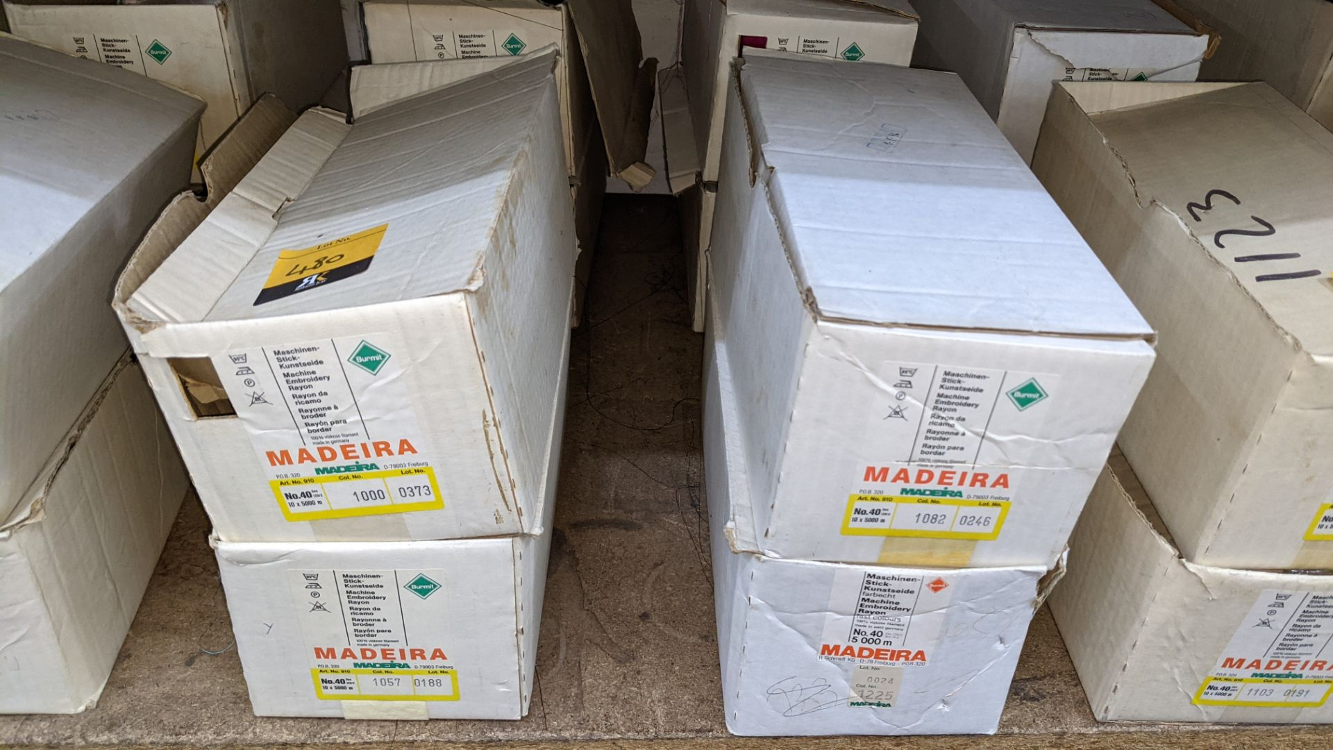 8 boxes of Madeira Burmit No. 40 rayon embroidery thread - Image 3 of 9
