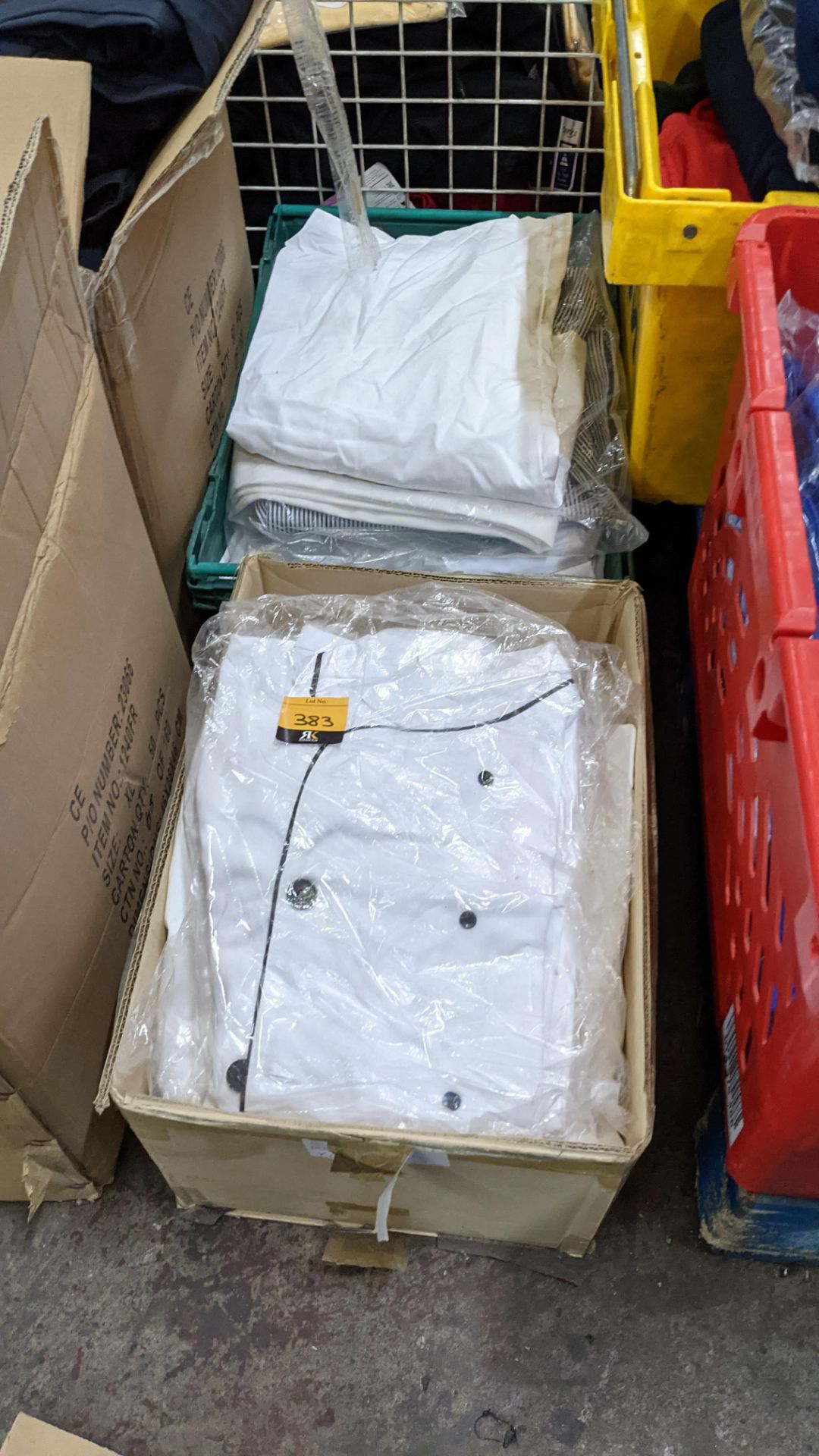 1 box & 1 crate of assorted chefs clothing & similar - Image 2 of 7