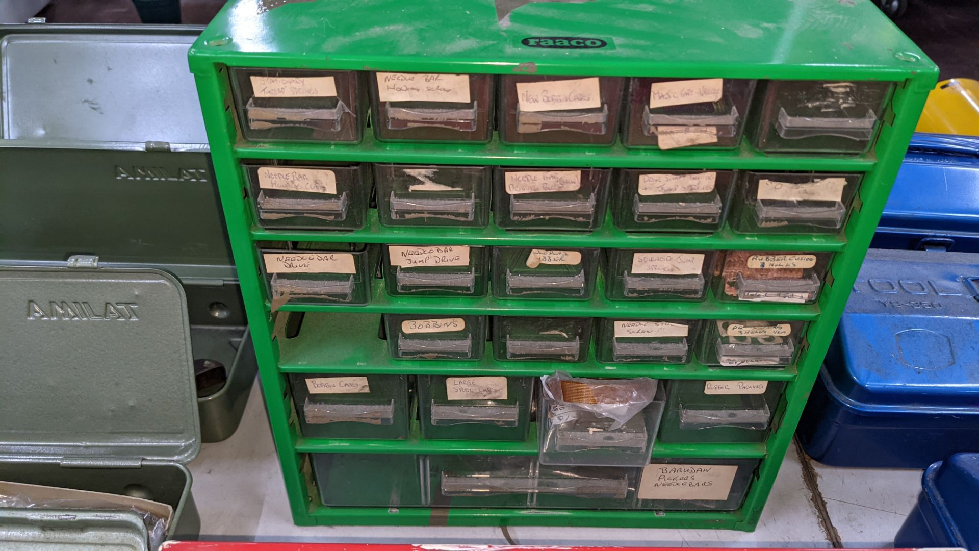 4 off mini cabinets & their contents of machinery parts & spares - Image 5 of 12