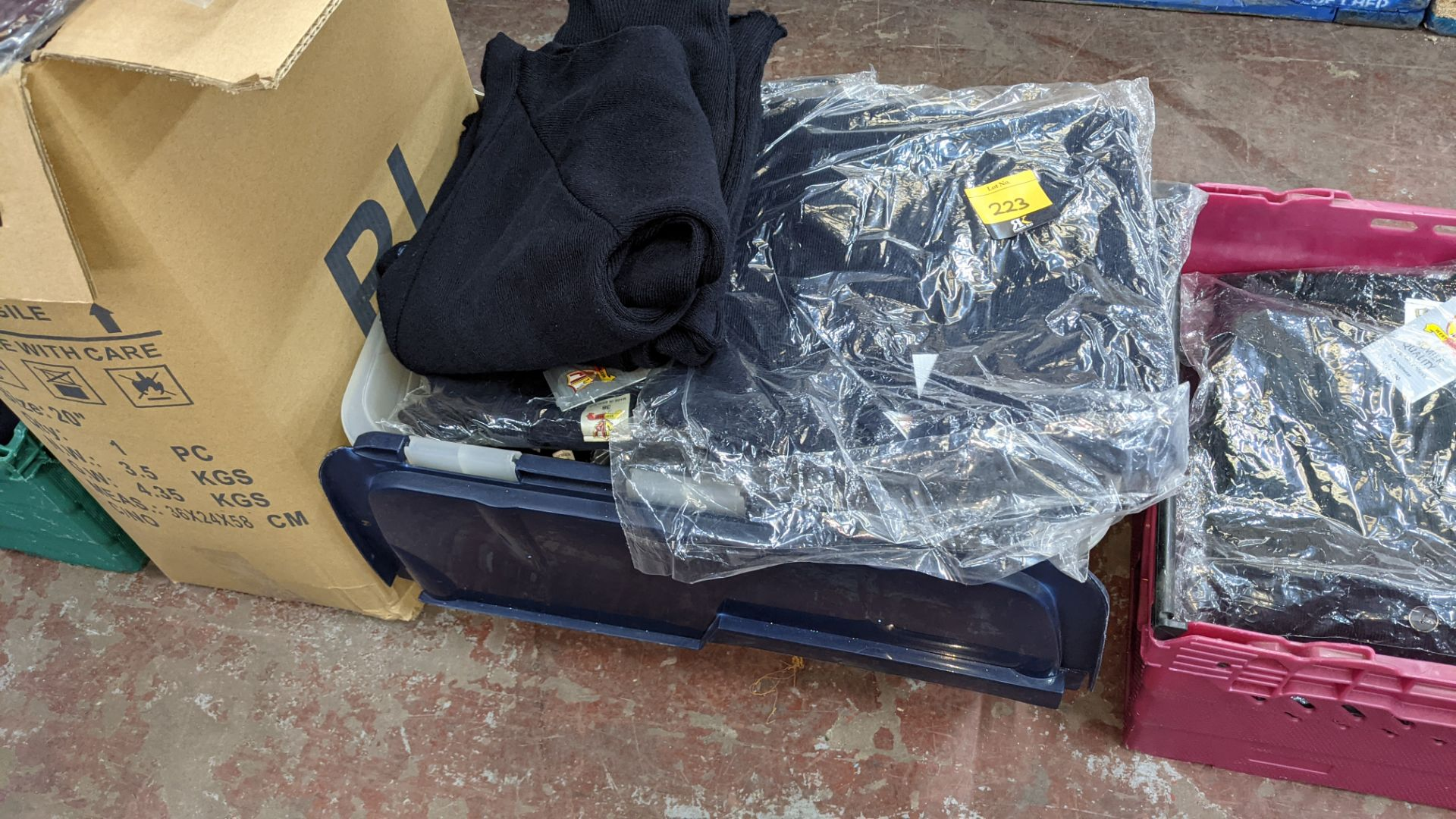 Approx 15 off children's navy cardigans - the contents of 1 crate. NB crate excluded - Image 2 of 4