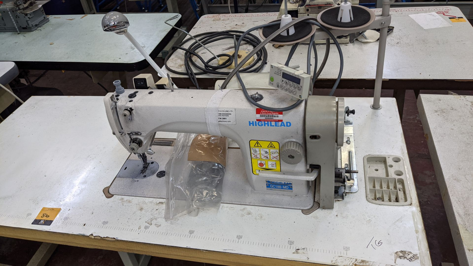 Highlead model GC188-MD sewing machine with model F-10 digital controller - Image 4 of 15