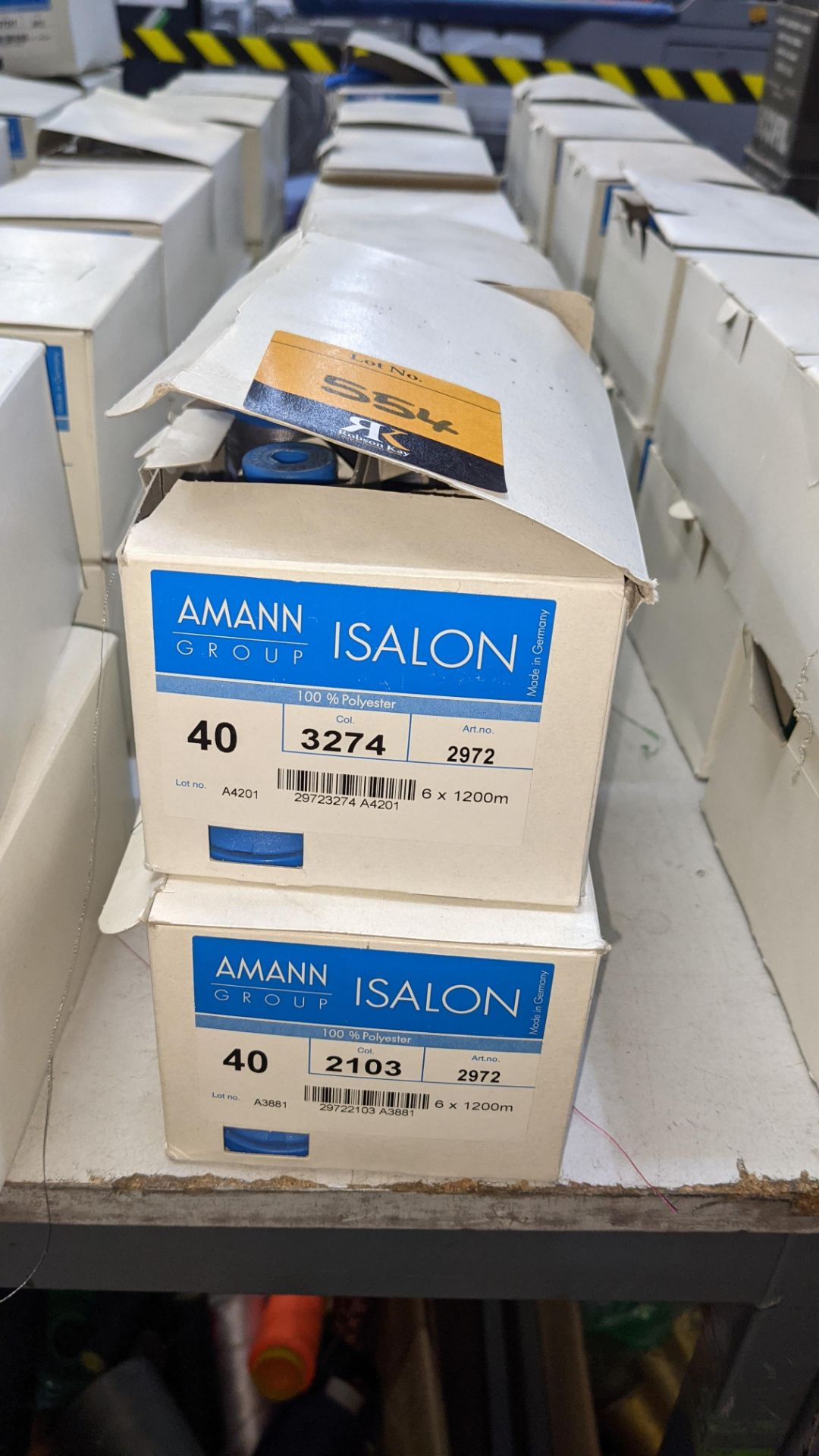 12 boxes of Amann Group ISALON 40 polyester embroidery thread - Image 3 of 11
