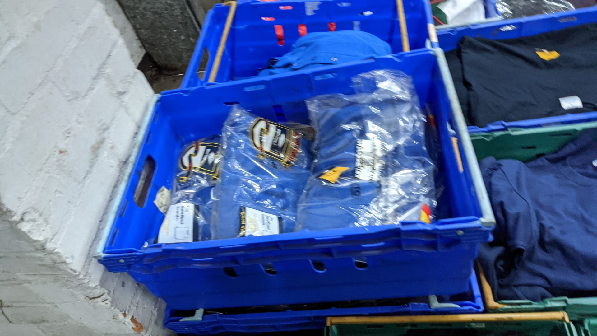 Approx 29 off royal blue children's sweatshirts (2 crates)
