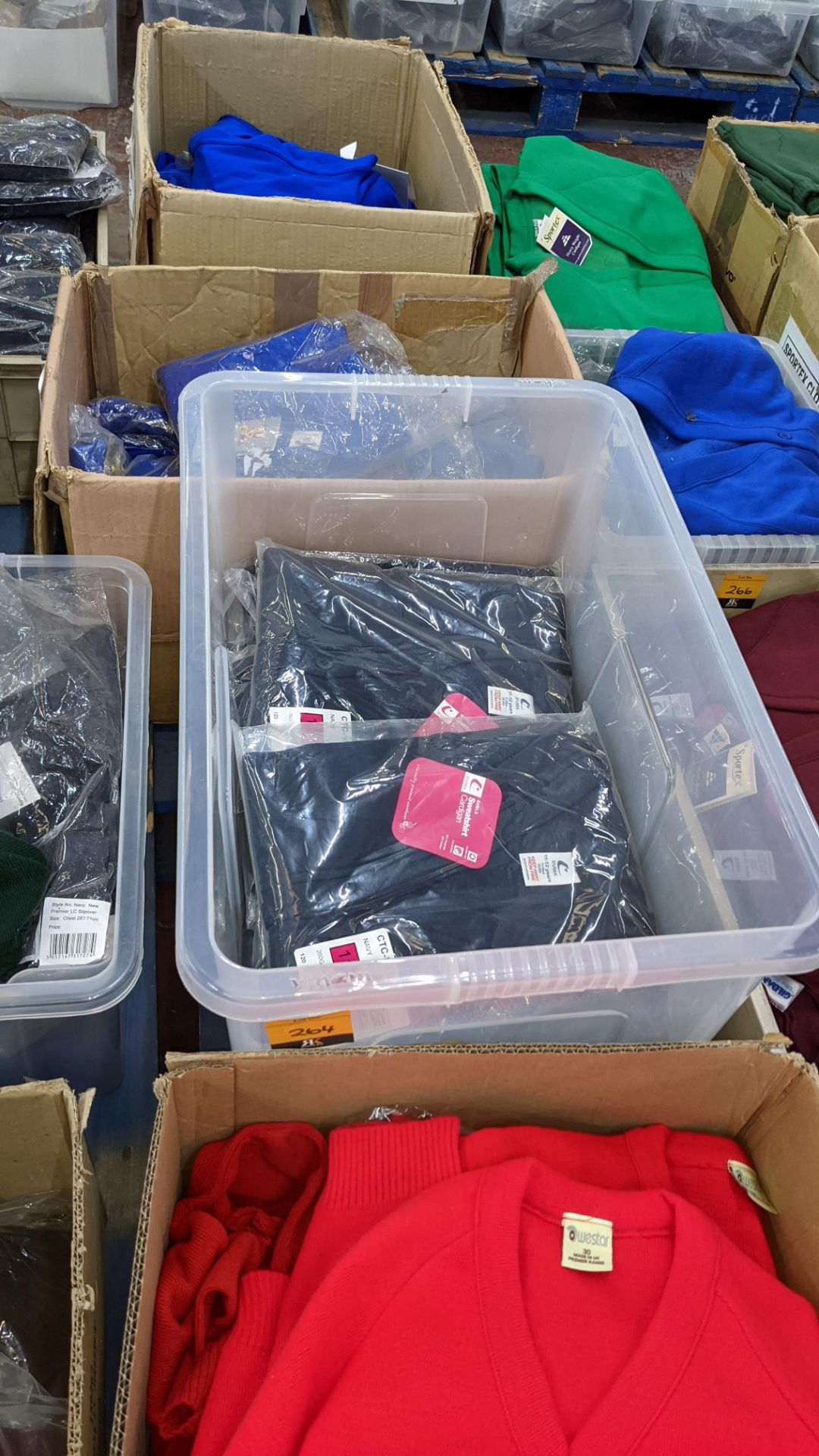 Approx 11 off Trutex children's navy button up sweatshirts/cardigans - the contents of 1 crate. NB - Image 2 of 5