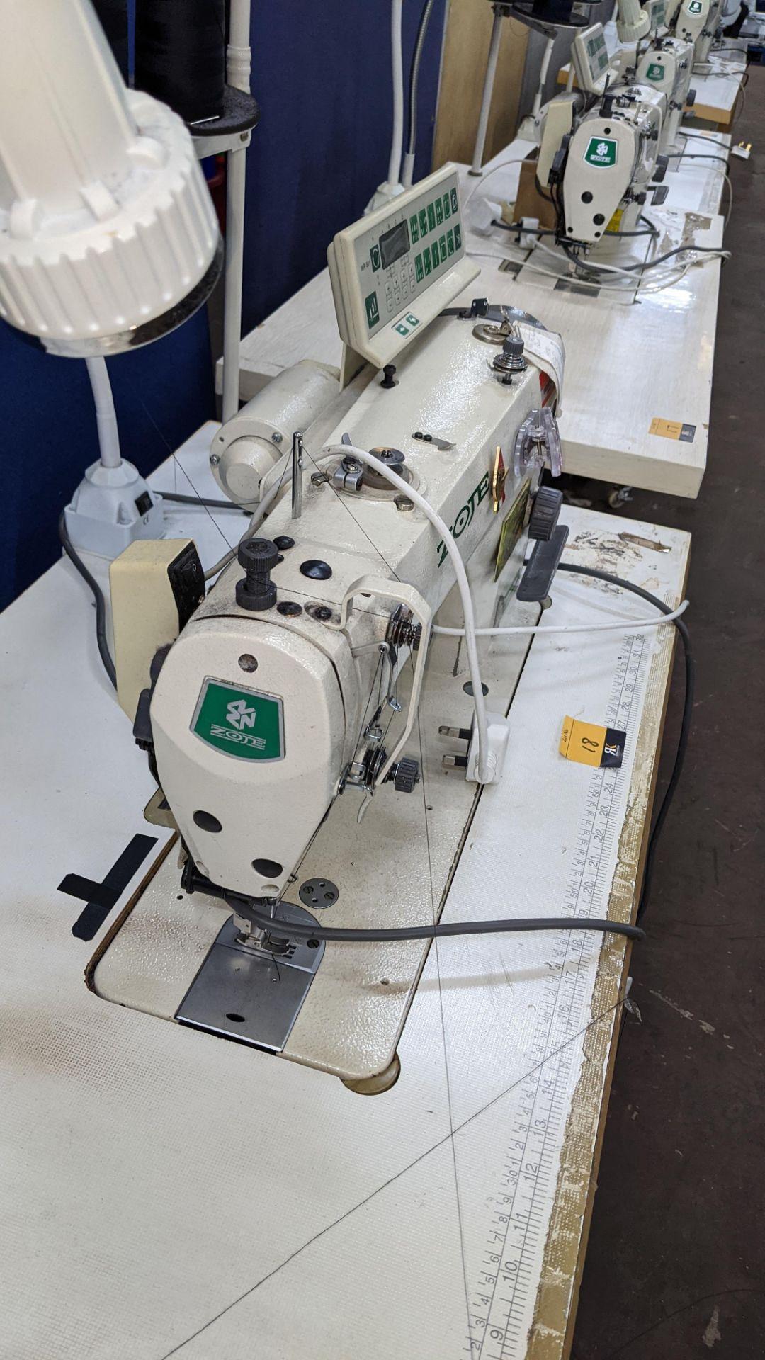 Zoje model ZJ9800A-D3B/PF lockstitch sewing machine with model WR-501 digital controller - Image 9 of 20