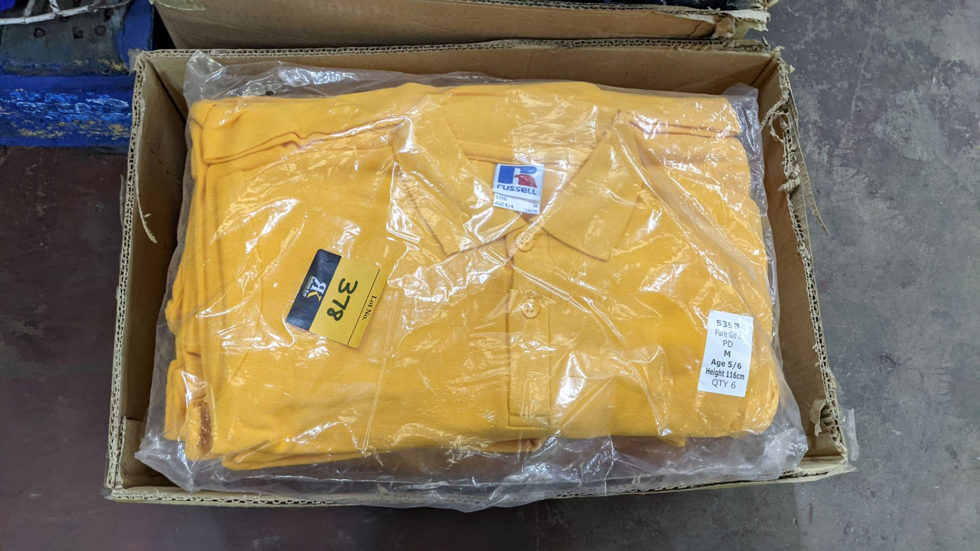 Approx 40 off Russell children's yellow polo shirts - Image 3 of 5