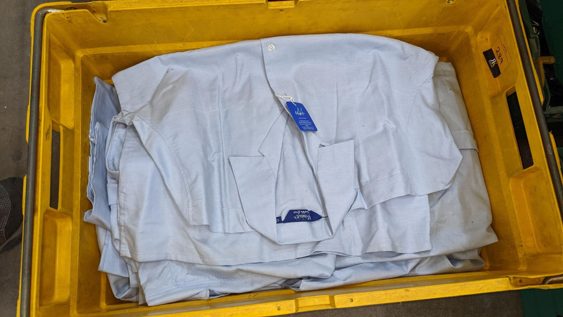 The contents of a crate of sky blue tops. NB crate excluded - Image 3 of 4