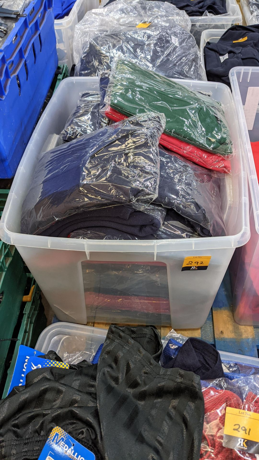 Large quantity of assorted polo shirts - the contents of 1 large crate. NB crate excluded