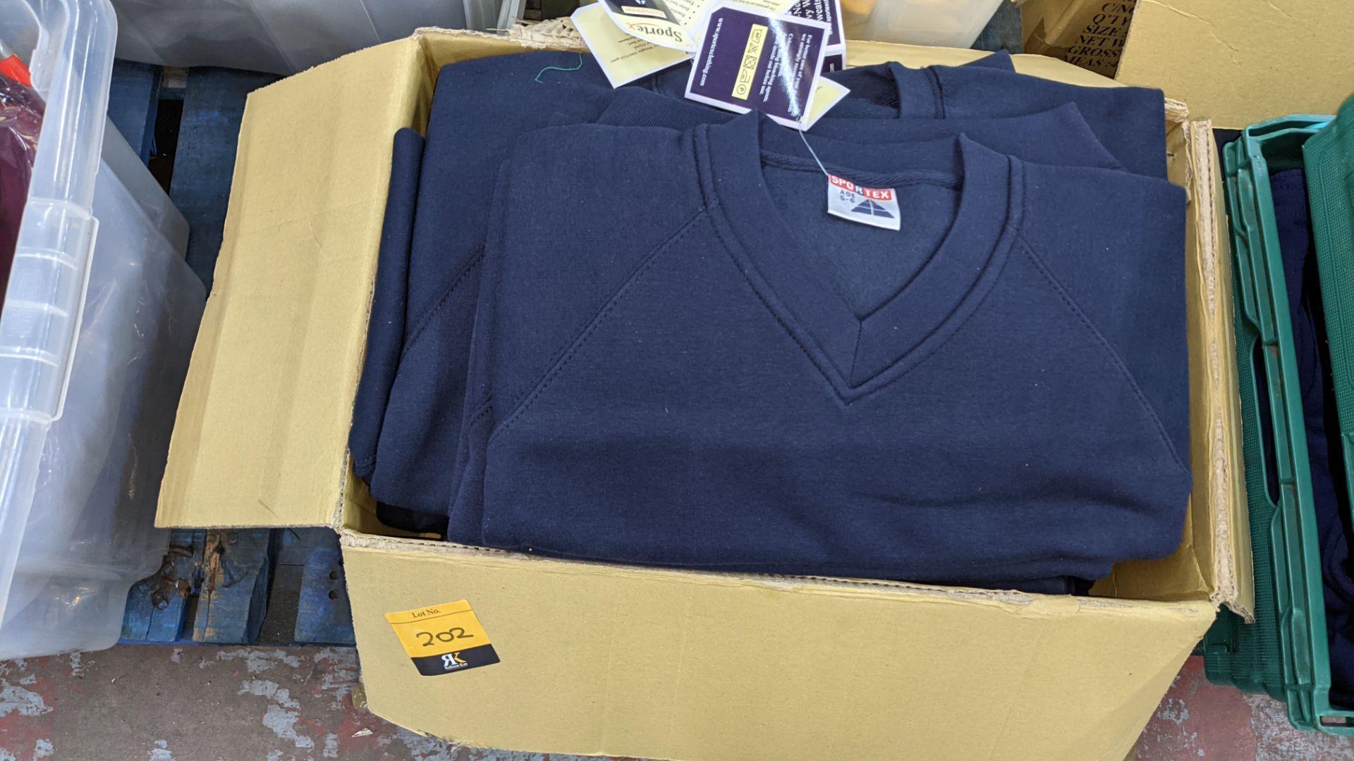 Approx 14 off Sportex children's blue V-neck sweatshirts - Image 2 of 4
