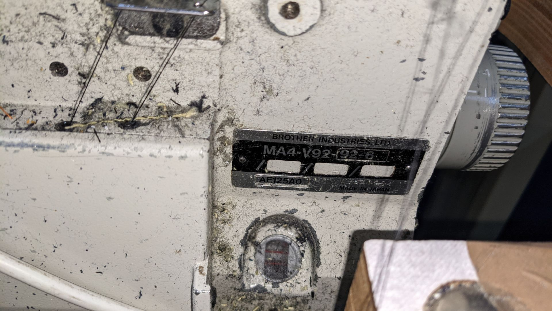 Brother overlocker model MA4-V92-92-6 - Image 10 of 21
