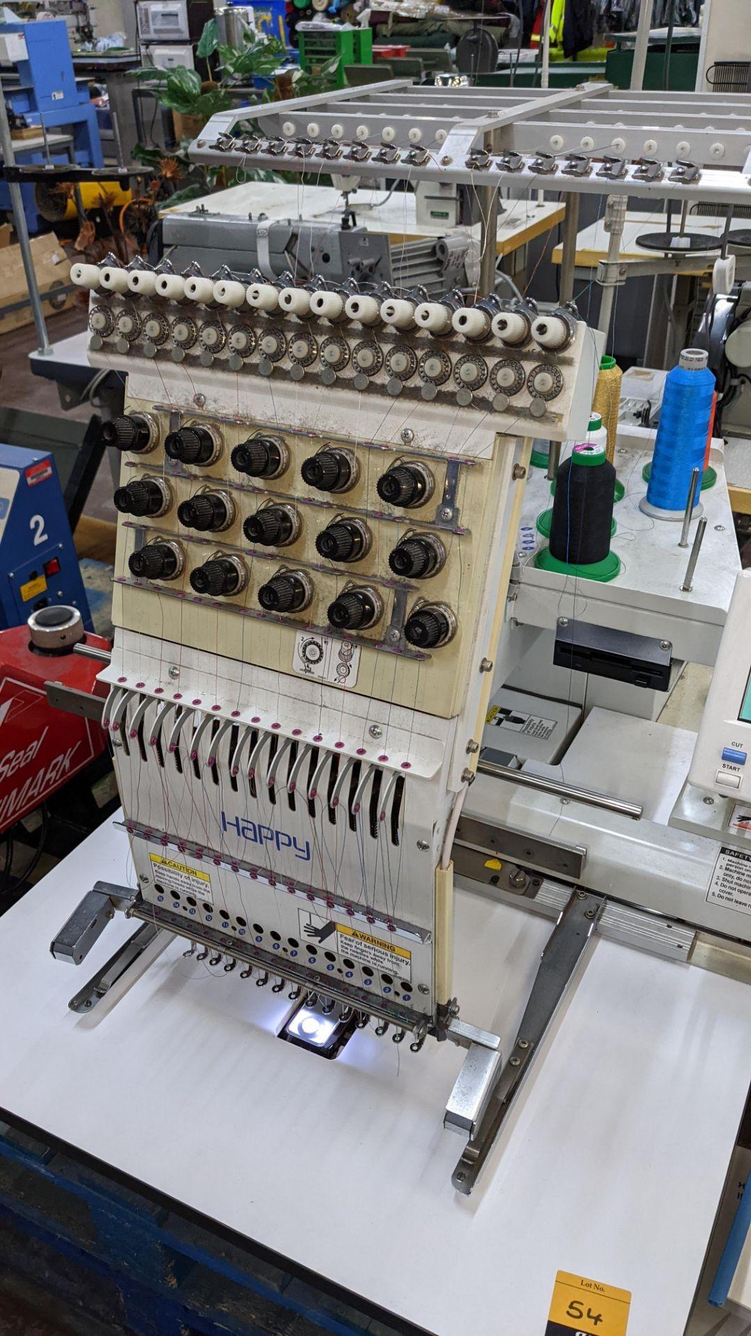 Happy single head embroidery machine model HCD-1501-40 - Image 13 of 22