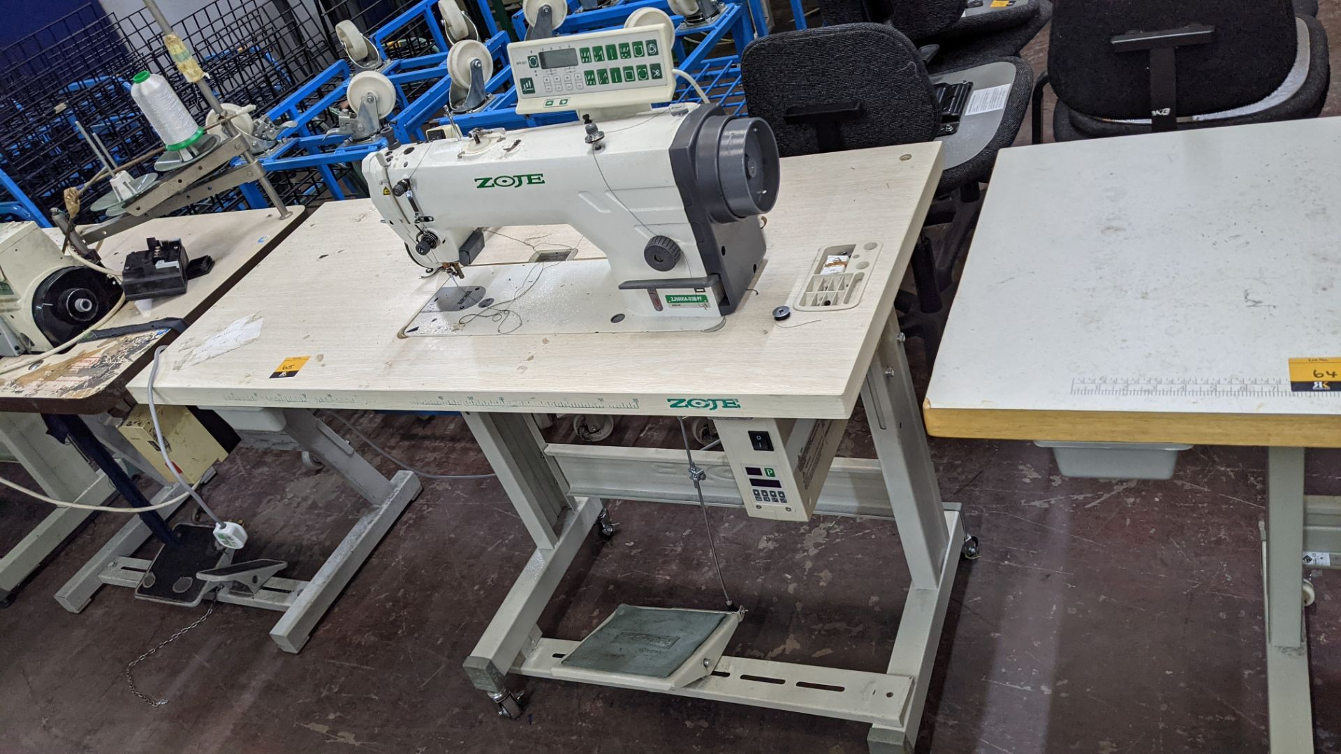 Zoje model ZJ9800A-D3B/PF sewing machine with WR-501 controller - Image 2 of 17