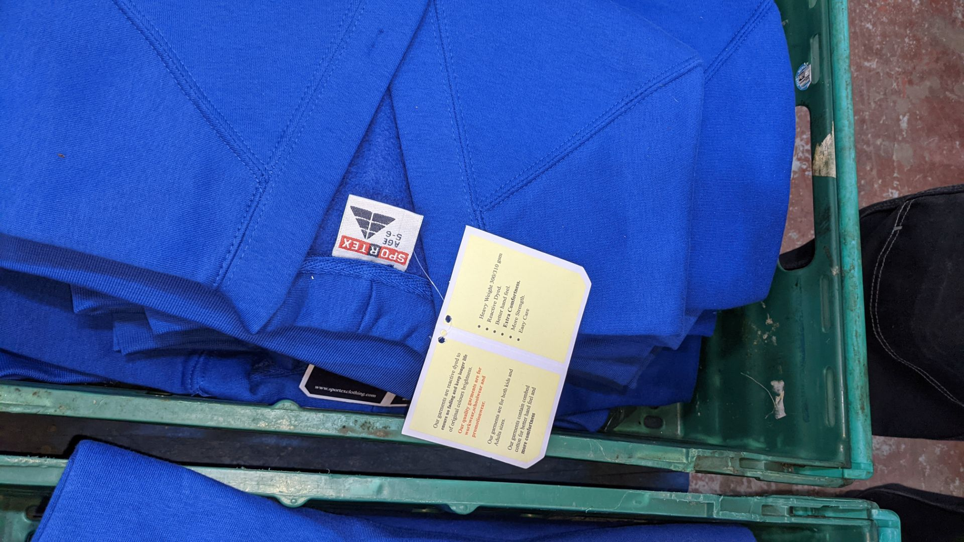 Approx 15 off Sportex children's assorted sweatshirts - the contents of 2 crates. NB crates exclude - Image 6 of 6