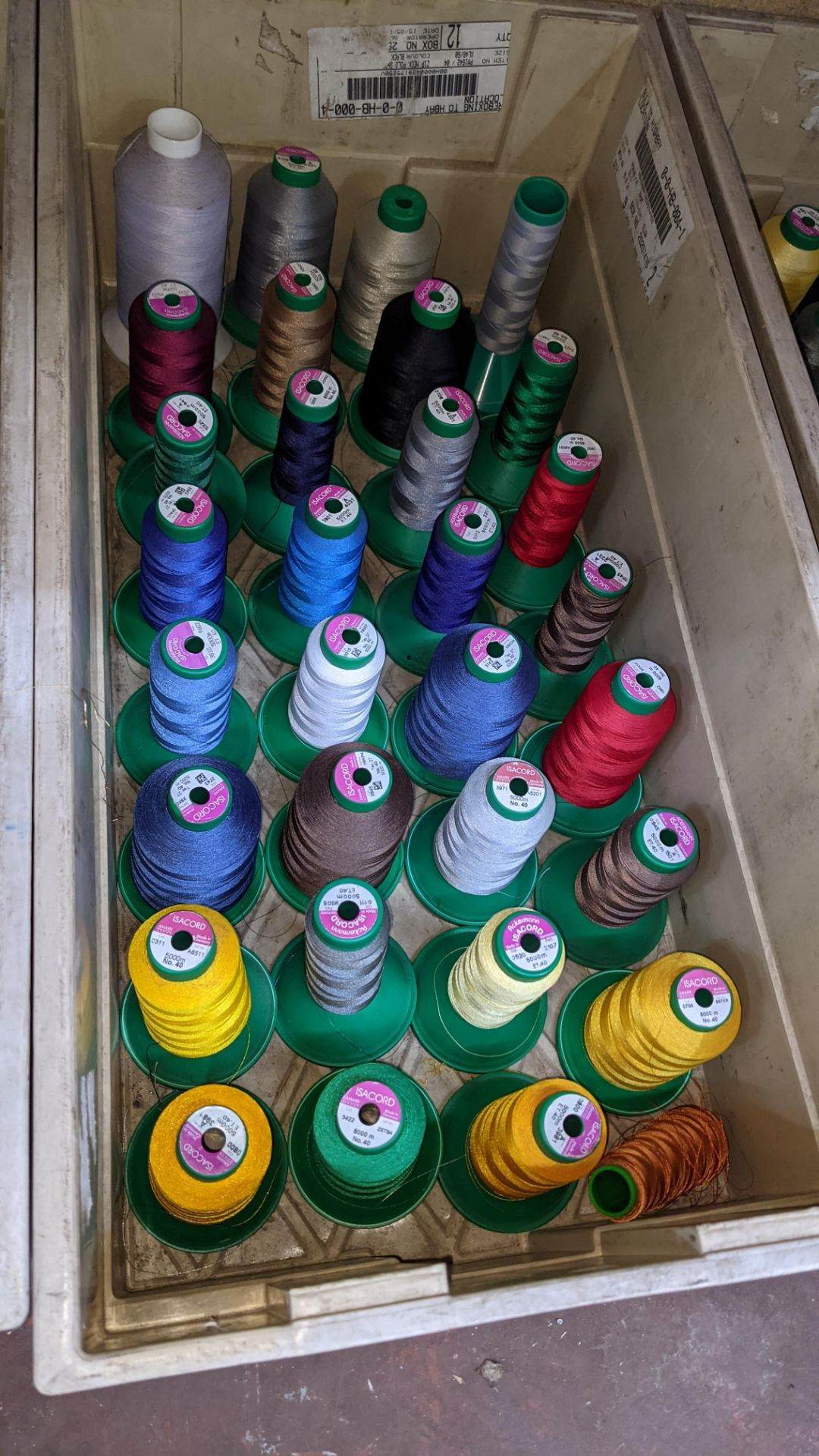 The contents of 4 large crates of assorted thread - Image 4 of 7