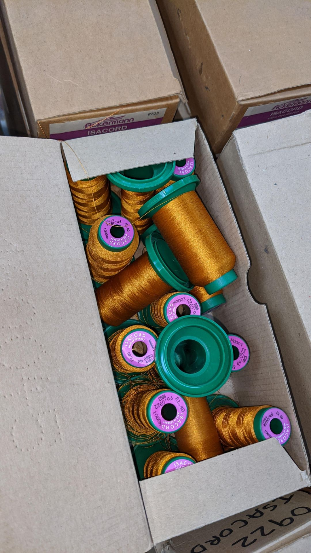 20 boxes of Ackermann Isacord (40) polyester thread - Image 8 of 9