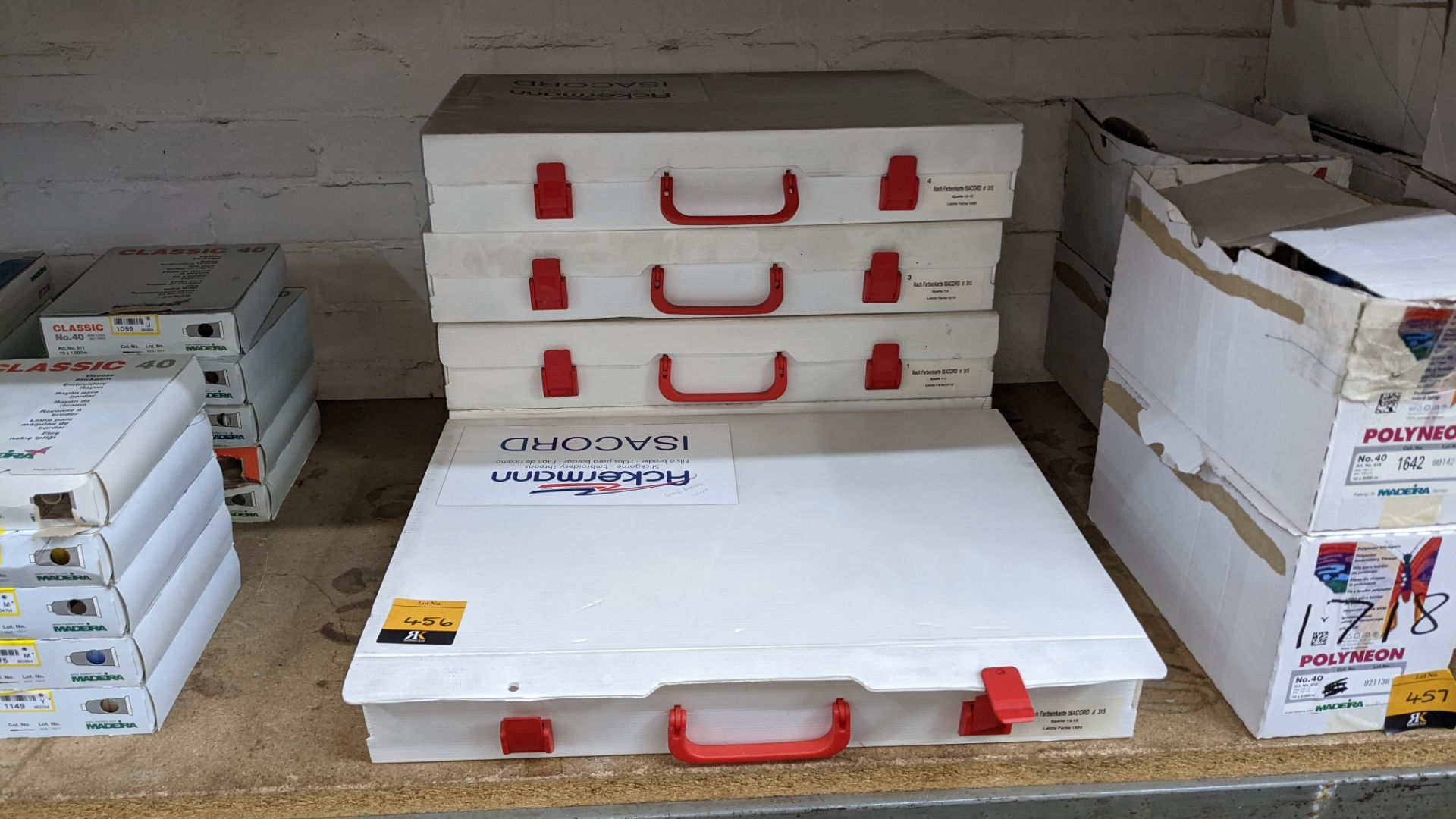 5 large cases of Ackermann Isacord thread - Image 2 of 13