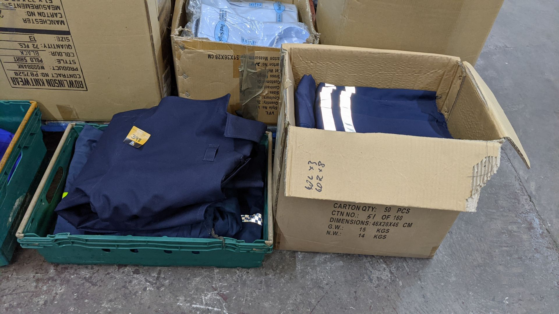 Quantity of emergency services type workwear comprising the contents of 1 box & 1 crate - Image 2 of 7