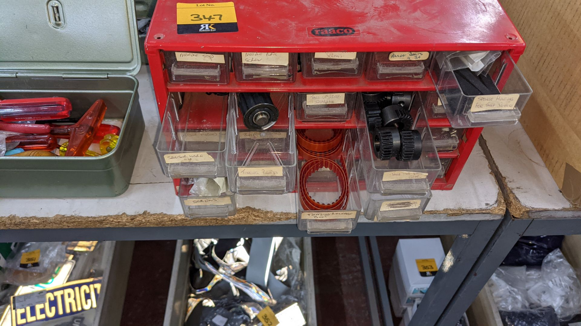 4 off mini cabinets & their contents of machinery parts & spares - Image 7 of 12