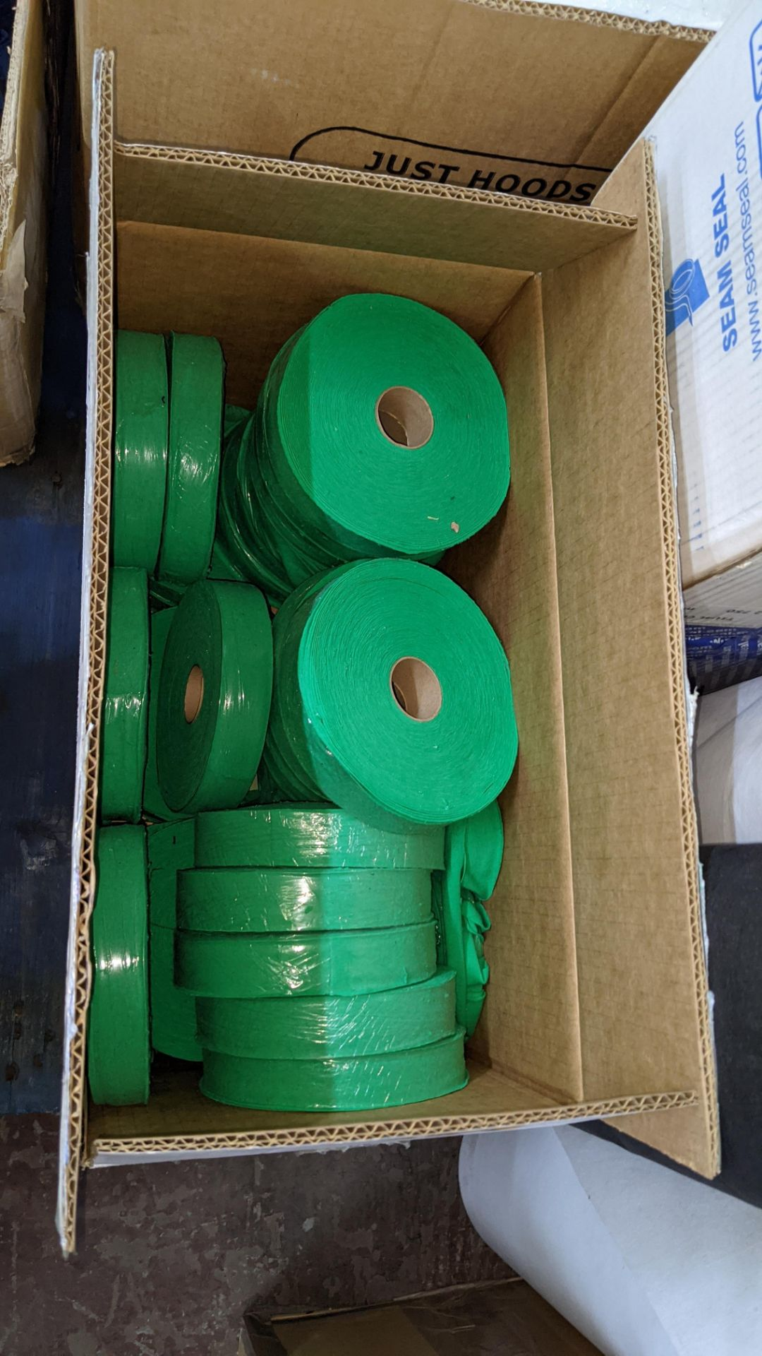 """Quantity of assorted """"tape"""" & other fabric consisting of 4 boxes & their contents of rolls of fabric - Image 3 of 8"""