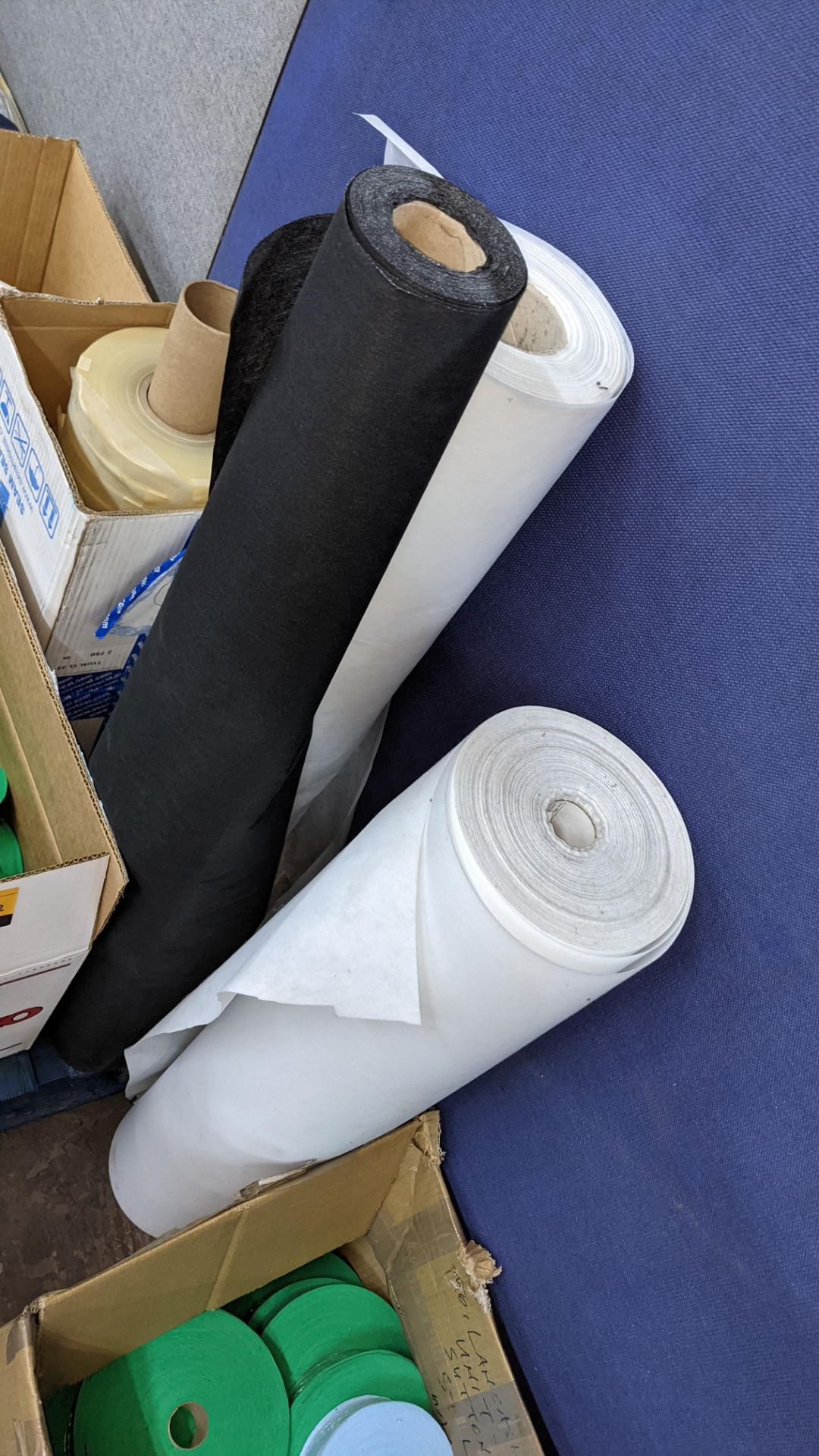 """Quantity of assorted """"tape"""" & other fabric consisting of 4 boxes & their contents of rolls of fabric - Image 6 of 8"""