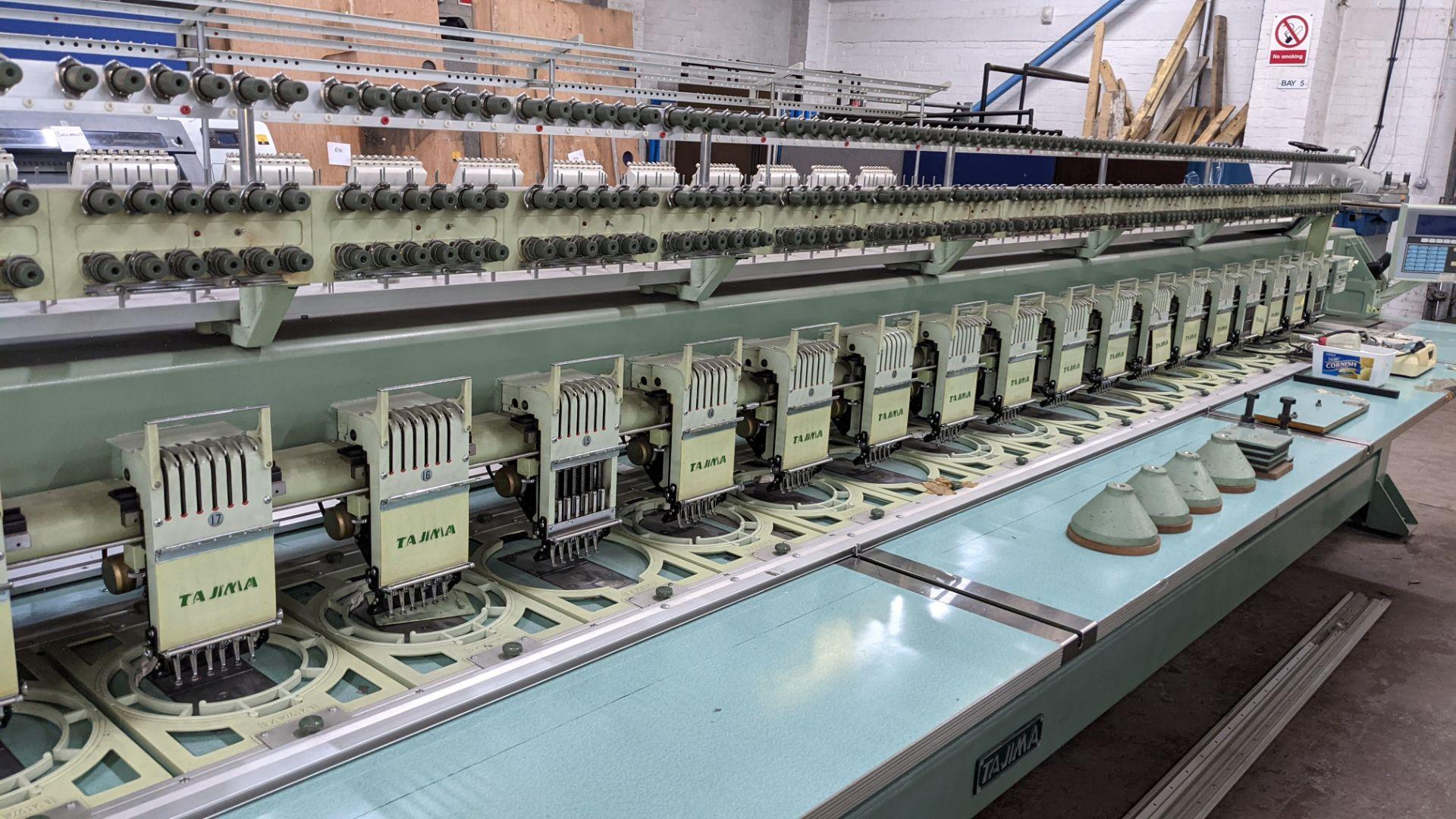 Tokai Tajima electronic 20 head automatic embroidery machine model TMEG-G620, manufacturing number 7 - Image 10 of 19