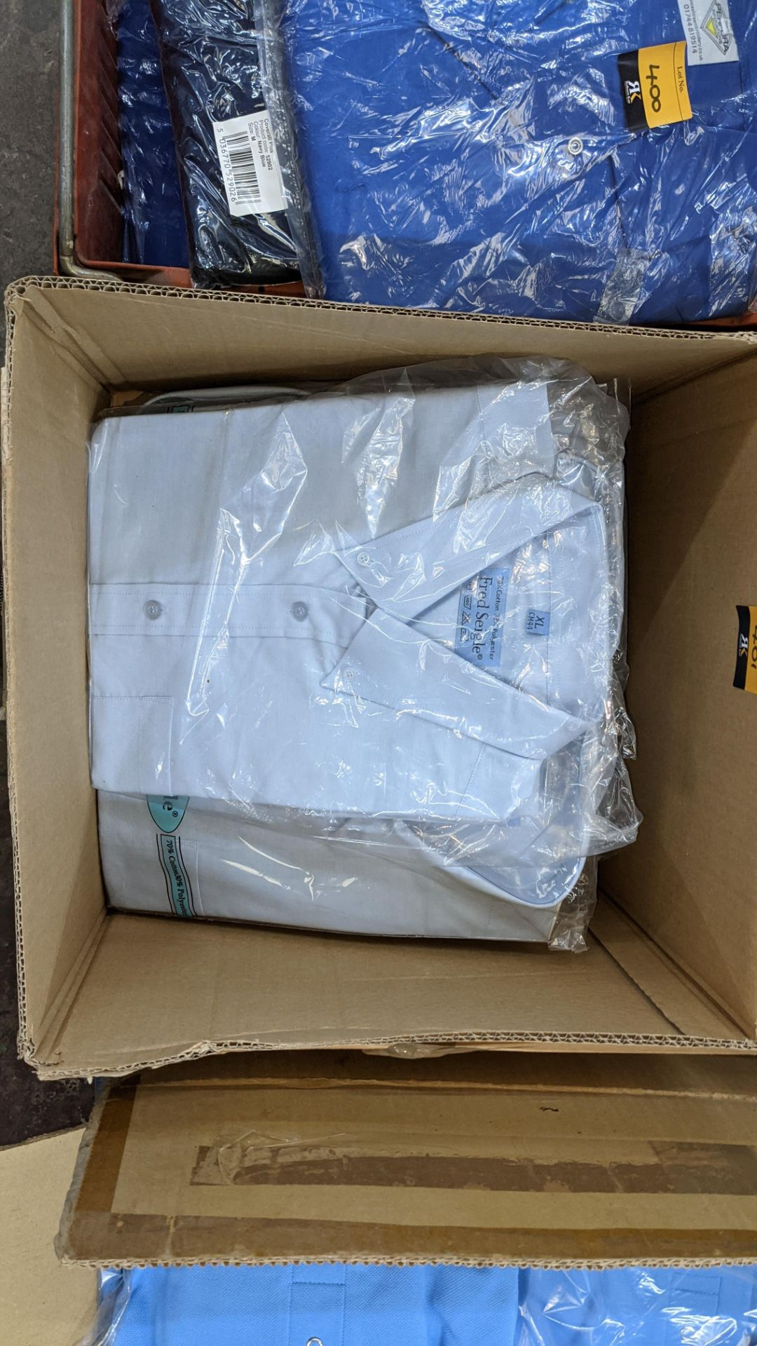 Quantity of Fred Seigle pale blue button down shirts (2 boxes) - Image 3 of 4
