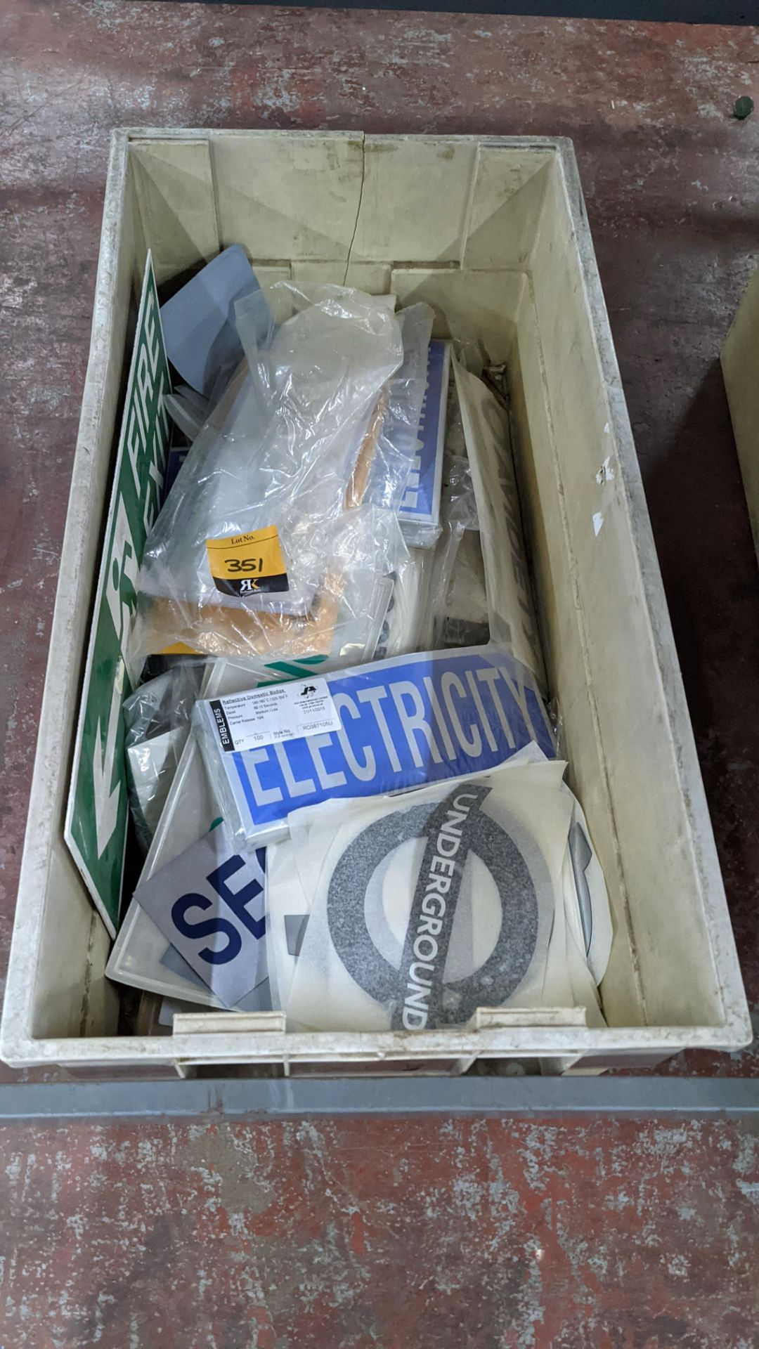 The contents of a crate of assorted patches, signage & transfers. NB crate excluded - Image 2 of 5