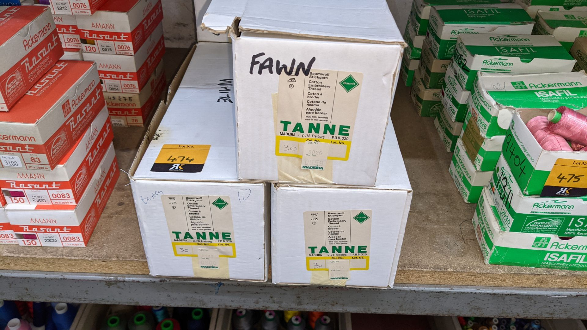 7 large boxes of Madeira Tanne cotton embroidery thread - Image 3 of 7