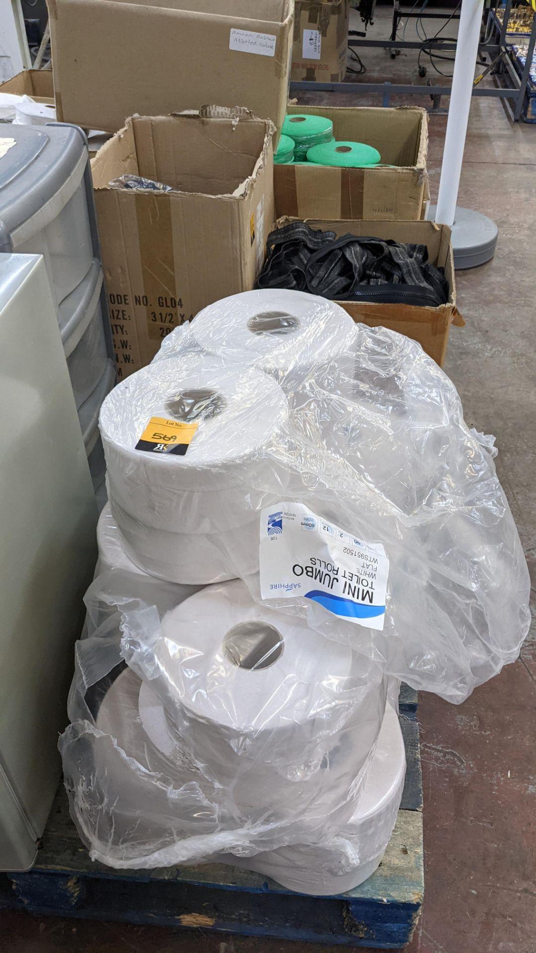 Quantity of white mini jumbo toilet rolls - Image 2 of 4