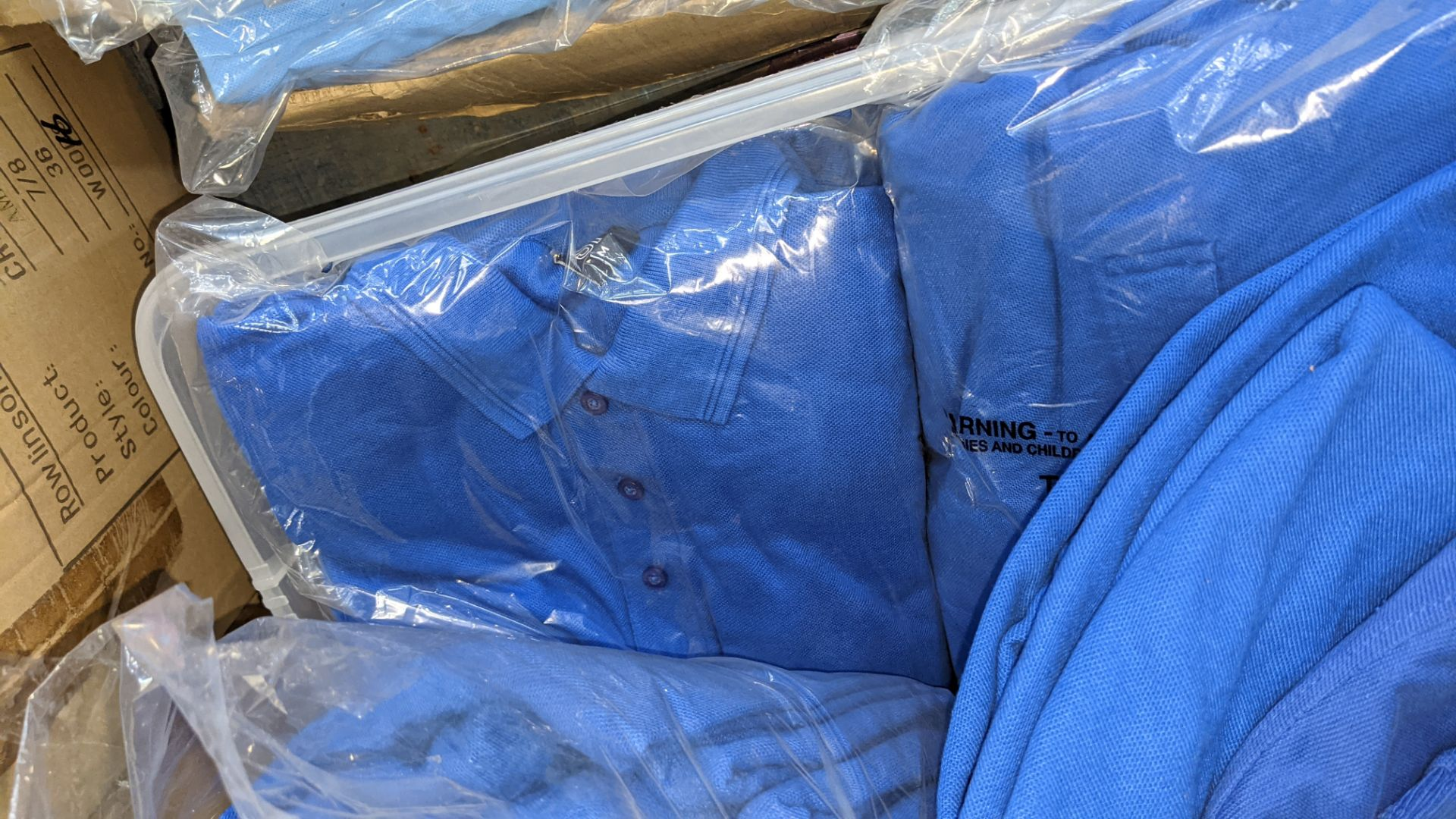 Approx 75 off assorted shades of blue polo shirts - Image 6 of 6