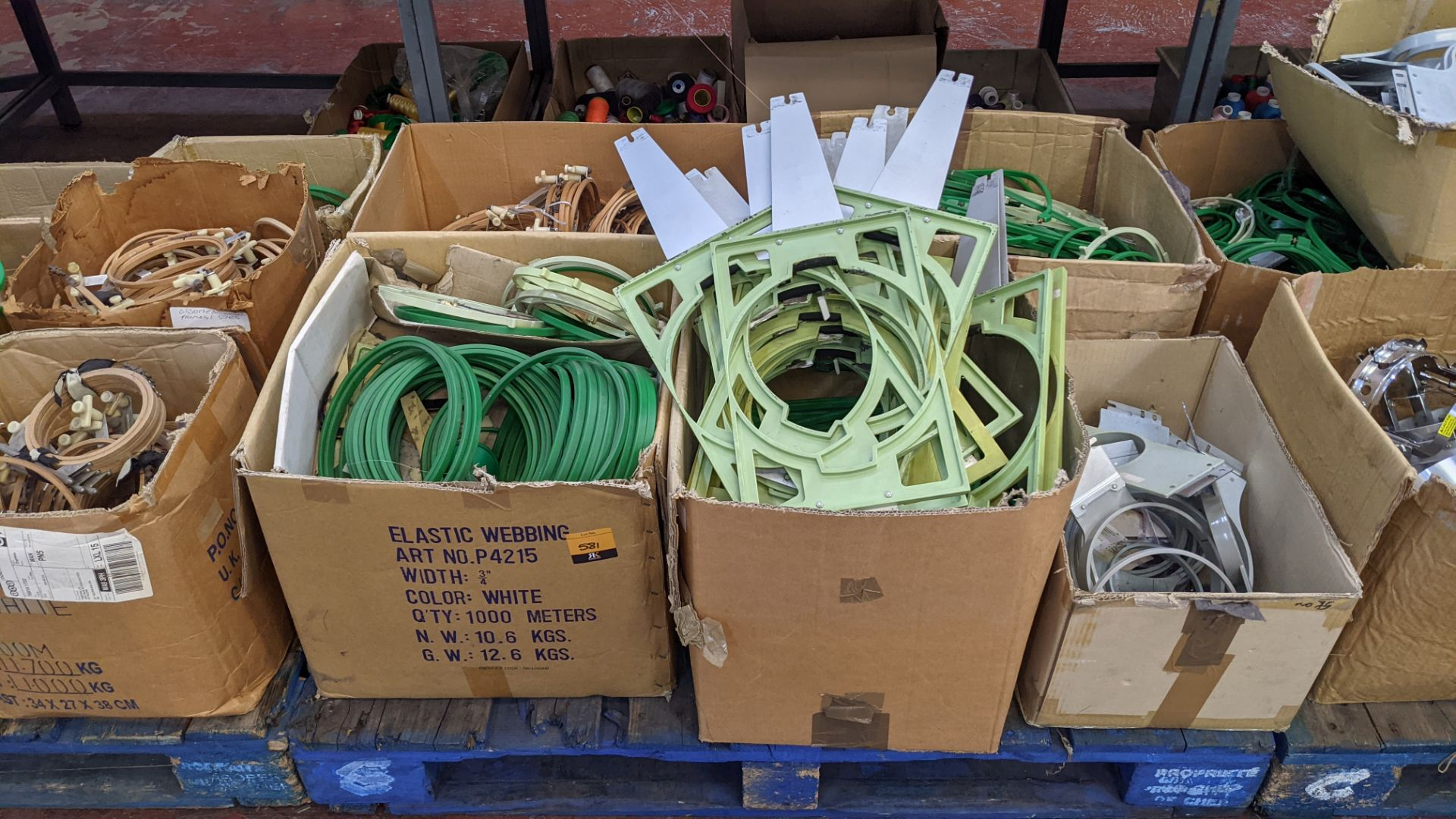 The contents of a pallet of assorted embroidery machine frames & similar - this lot consists of 5 as - Image 2 of 7