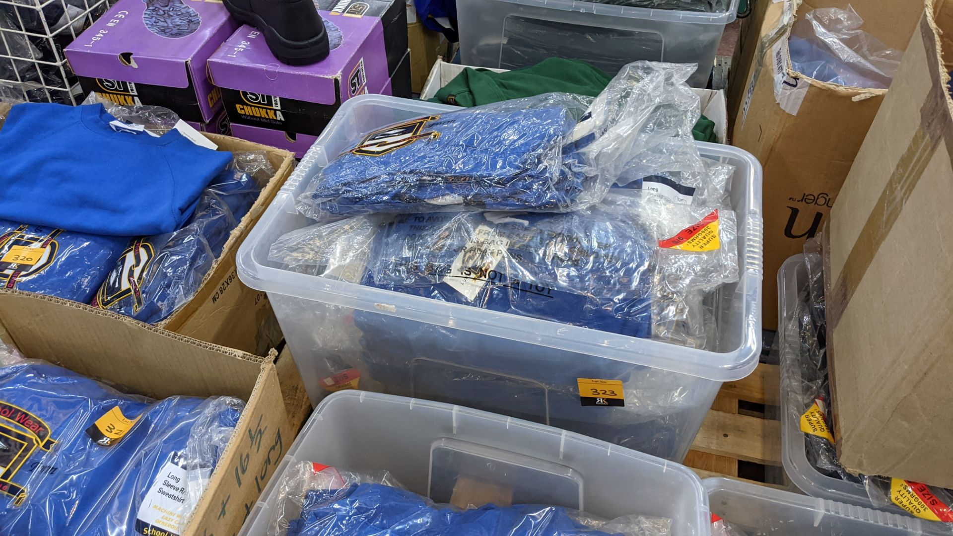 Approx 39 off blue children's sweatshirts & similar - the contents of 1 crate. NB crate excluded - Image 5 of 5