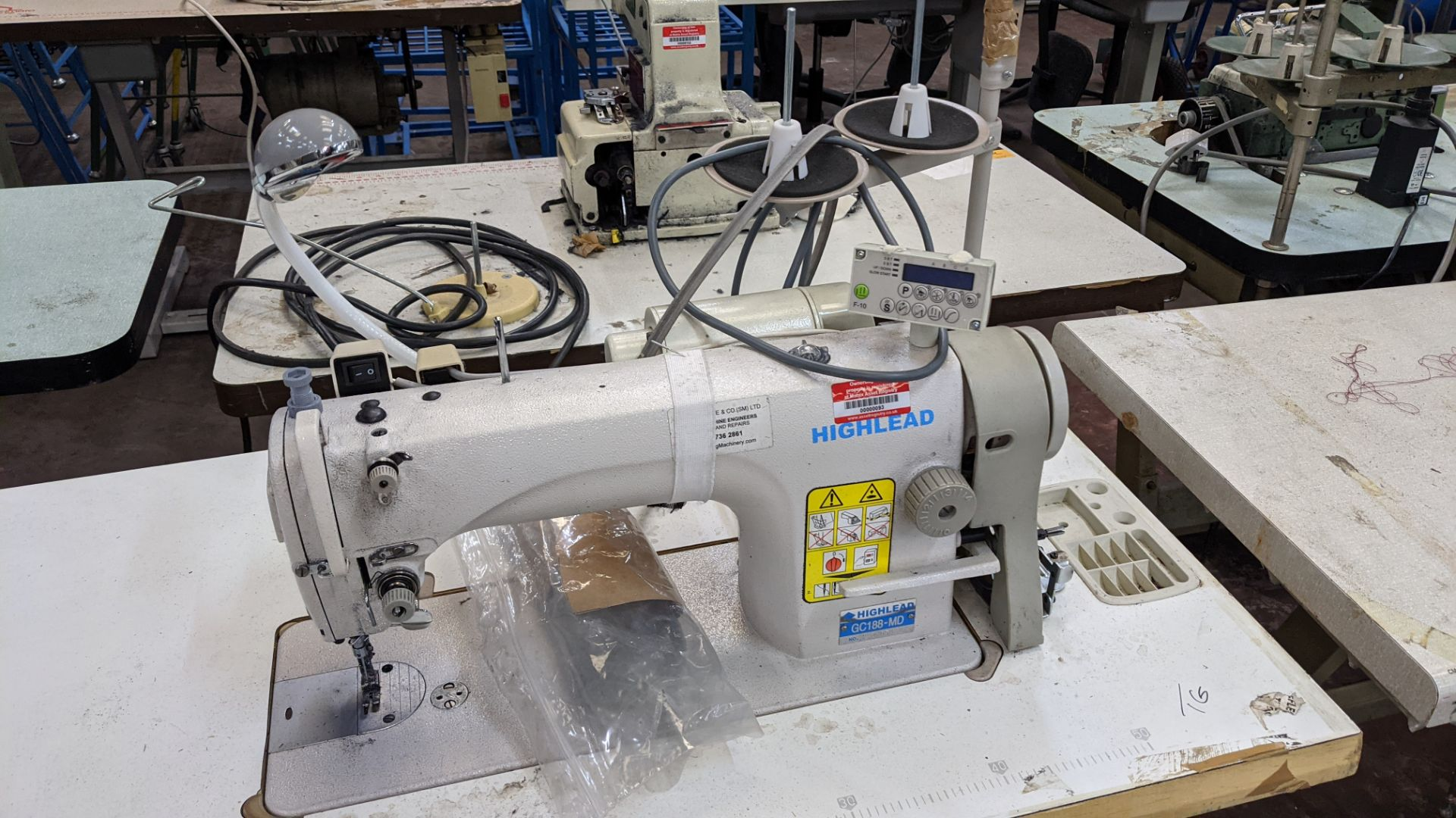 Highlead model GC188-MD sewing machine with model F-10 digital controller - Image 5 of 15