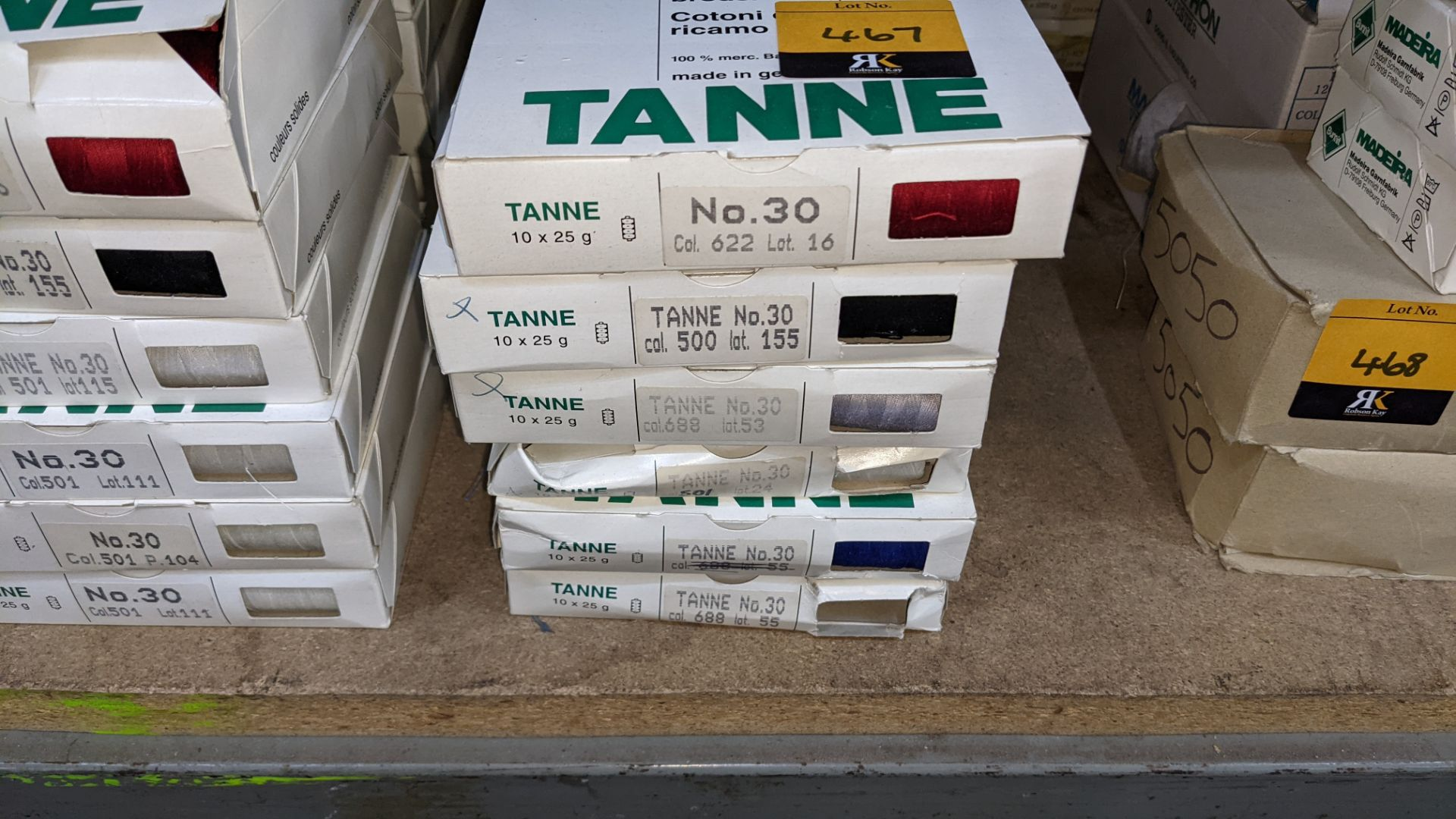 18 boxes of Madeira Tanne (Burmit) cotton embroidery thread - Image 3 of 8