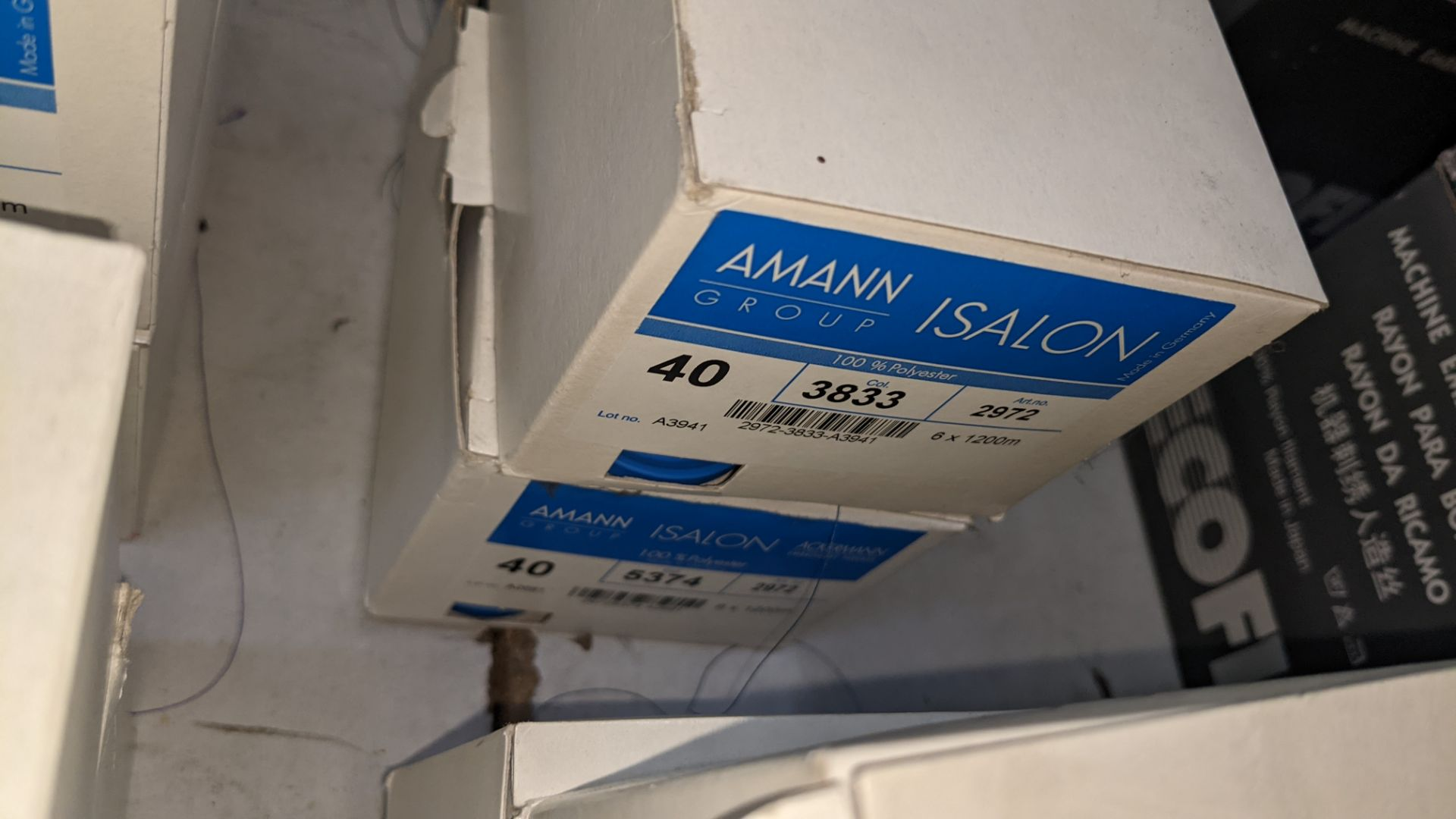 12 boxes of Amann Group ISALON 40 polyester embroidery thread - Image 8 of 9