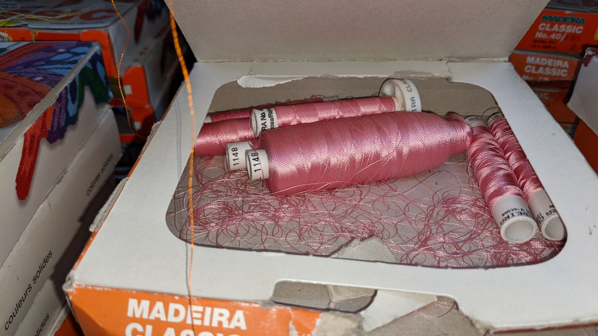 15 assorted boxes of Madeira Classic No. 40 embroidery rayon thread - Image 6 of 8