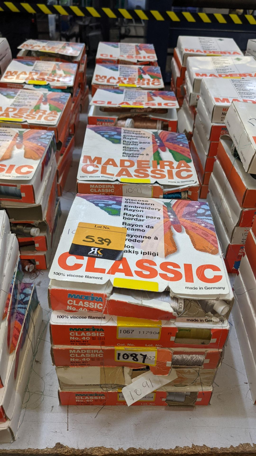 25 boxes of Madeira Classic No. 40 rayon embroidery thread - Image 2 of 12