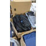 Box of black Uneek sweatshirts