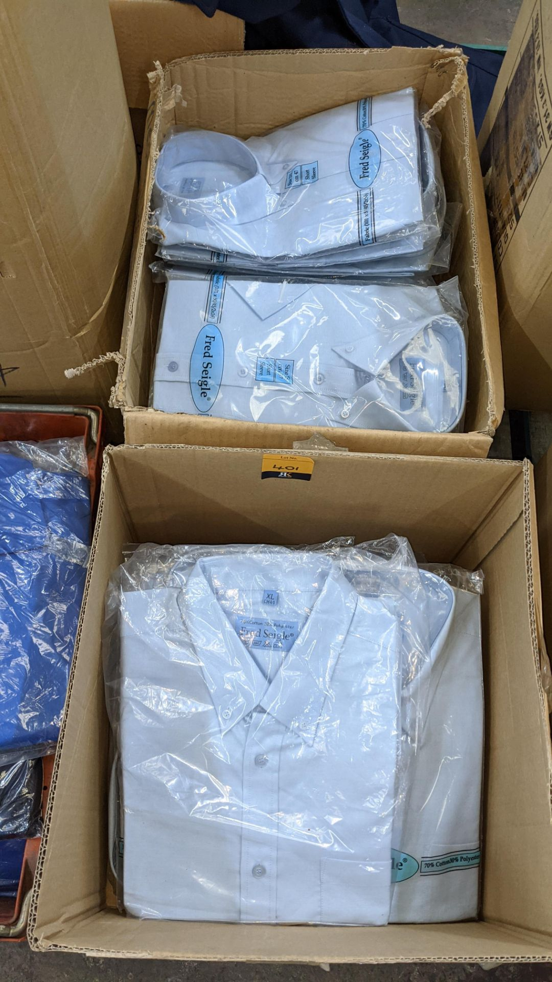 Quantity of Fred Seigle pale blue button down shirts (2 boxes) - Image 2 of 4
