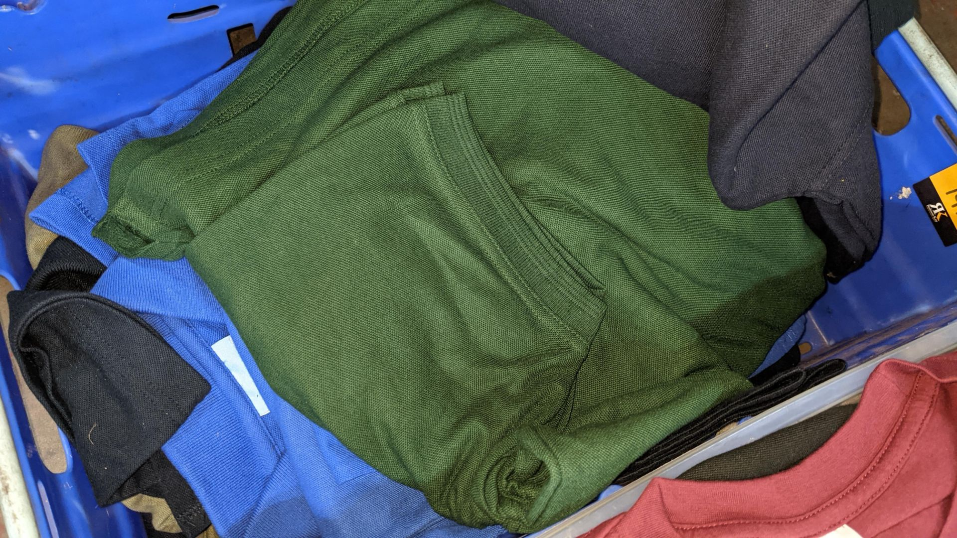 Approx 23 off Uneek assorted blue polo shirts - Image 5 of 6