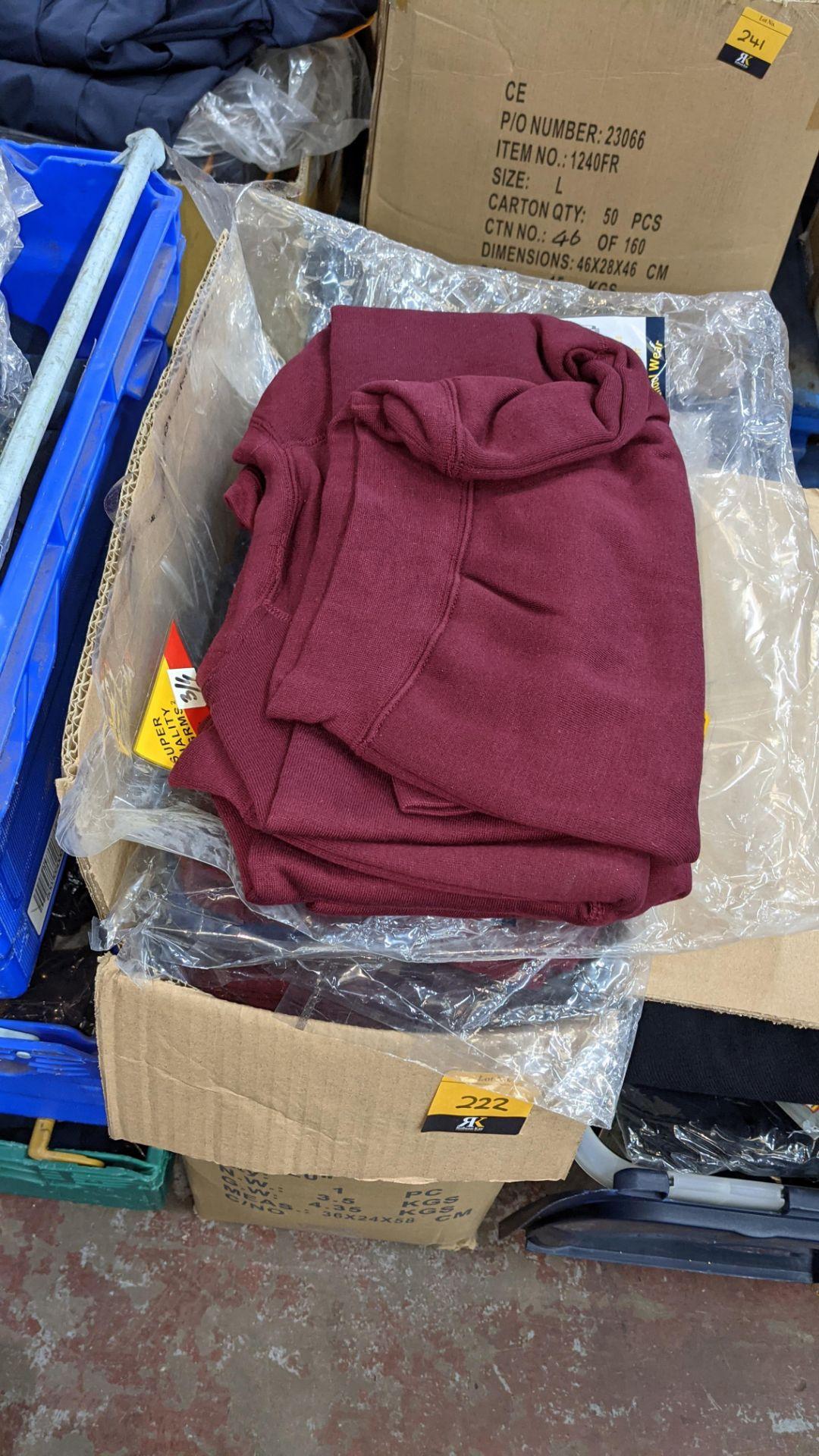 Approx 36 off children's burgundy sweatshirts - 1 large box - Image 2 of 4