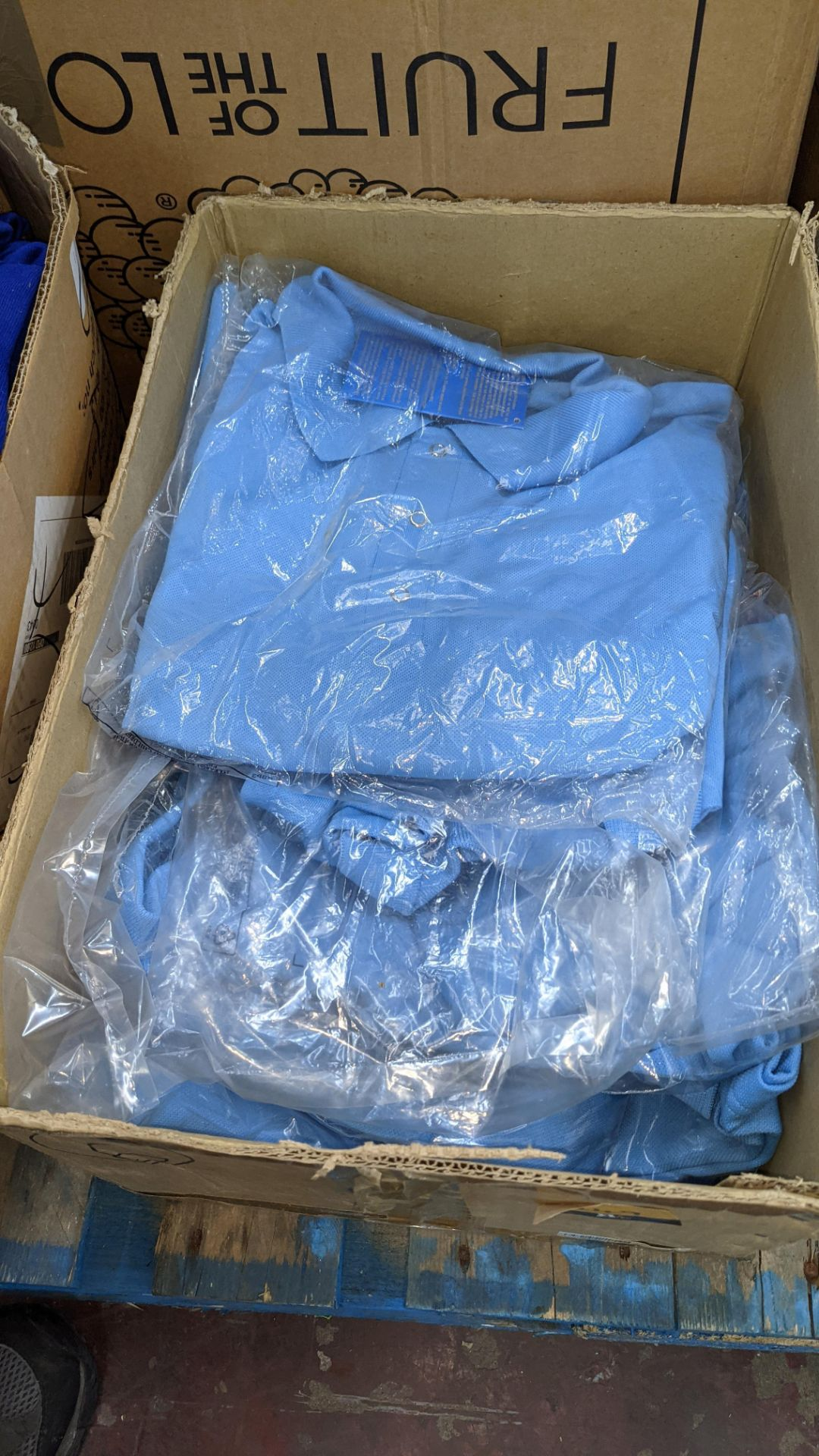 Approx 10 off pale blue polo shirts - 1 box - Image 2 of 5
