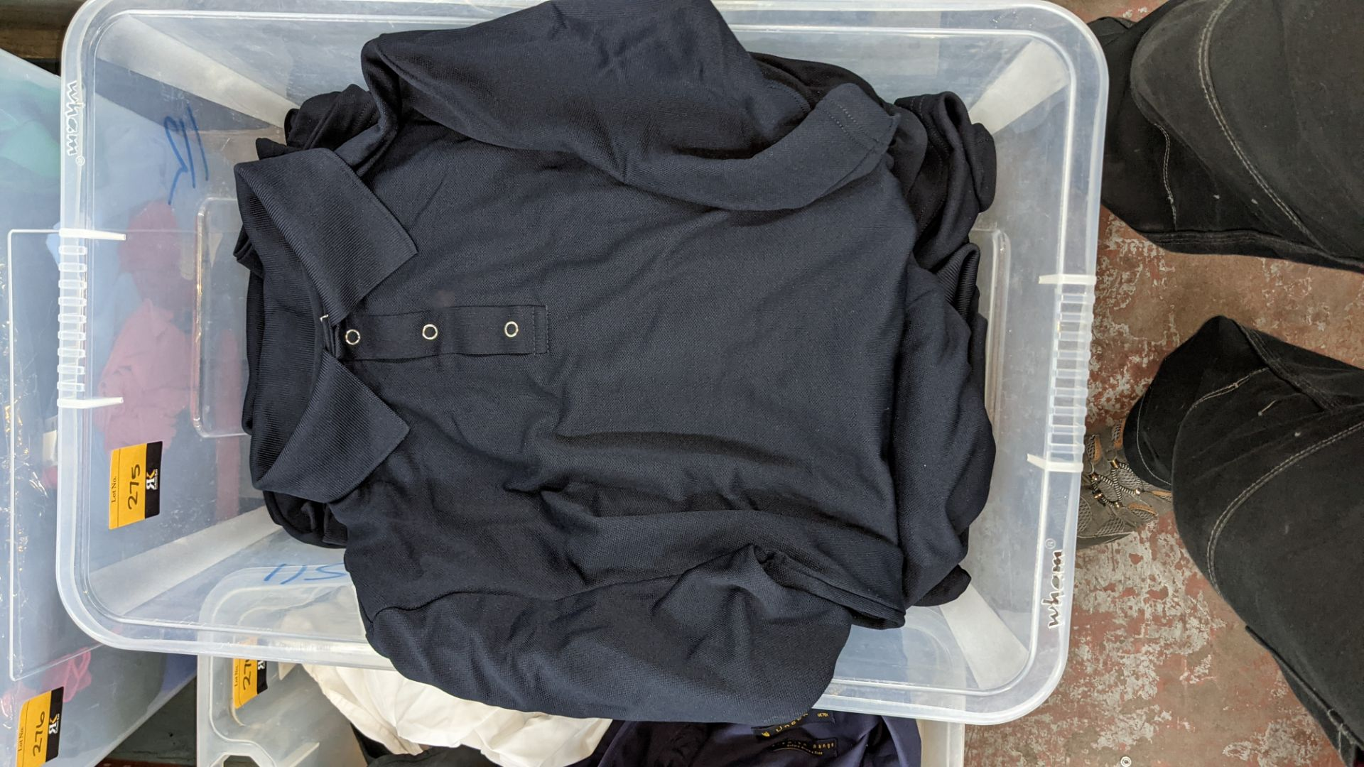 Approx 40 off blue polo shirts - the contents of 1 large crate. NB crate excluded - Image 4 of 4