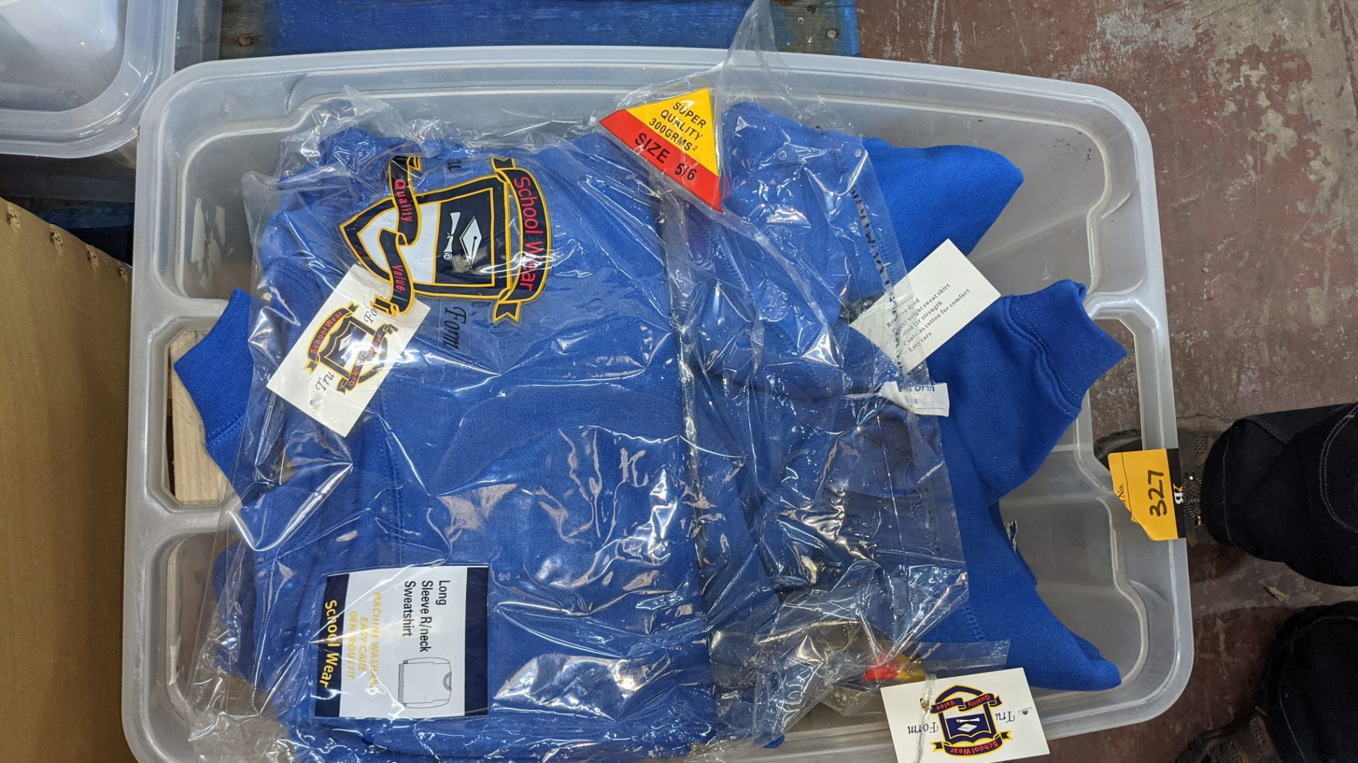 Approx 19 off blue children's sweatshirts - the contents of 1 crate. NB crate excluded - Image 4 of 4