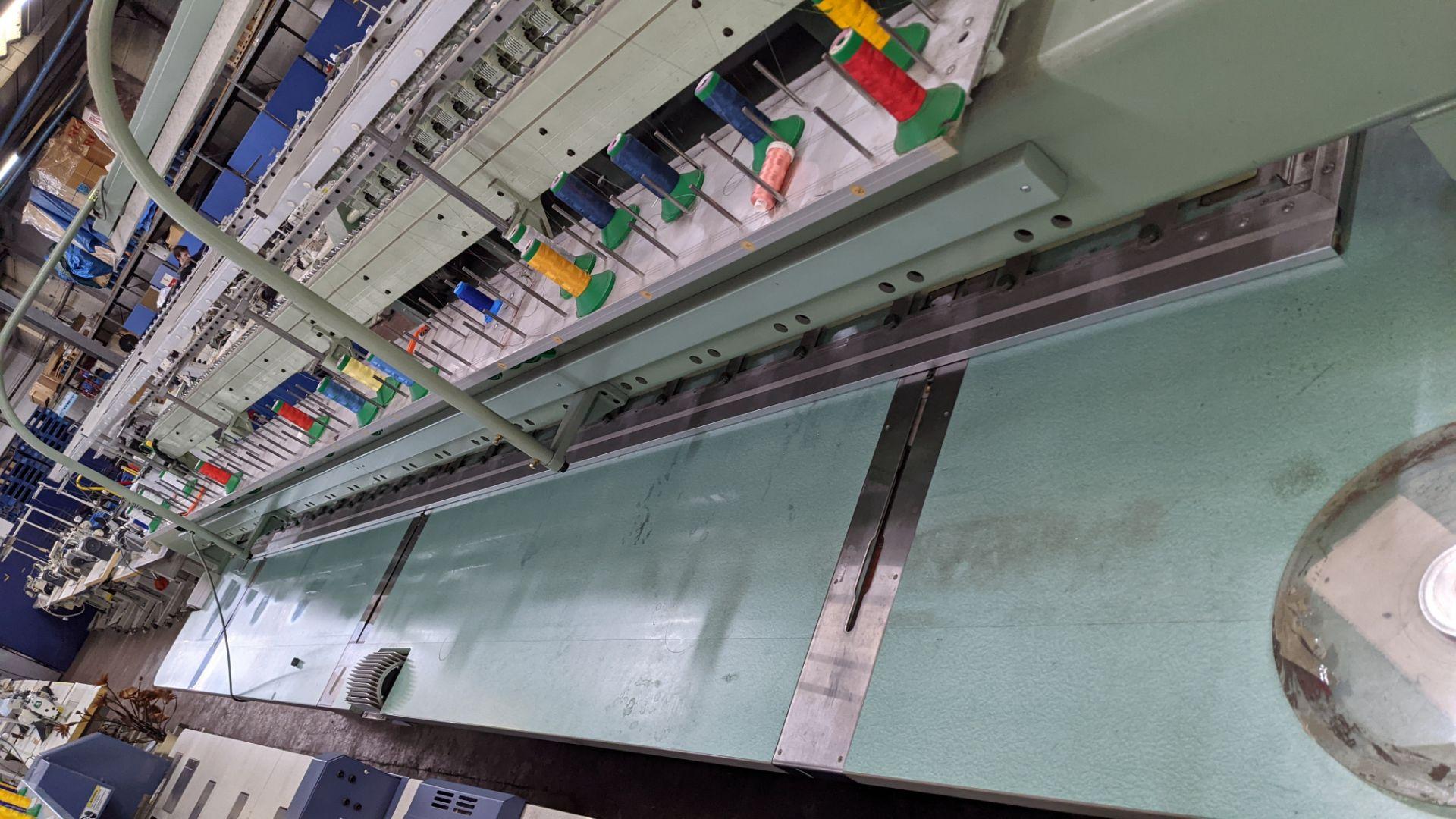 Tokai Tajima electronic 20 head automatic embroidery machine model TMEF-H620 - Image 20 of 25