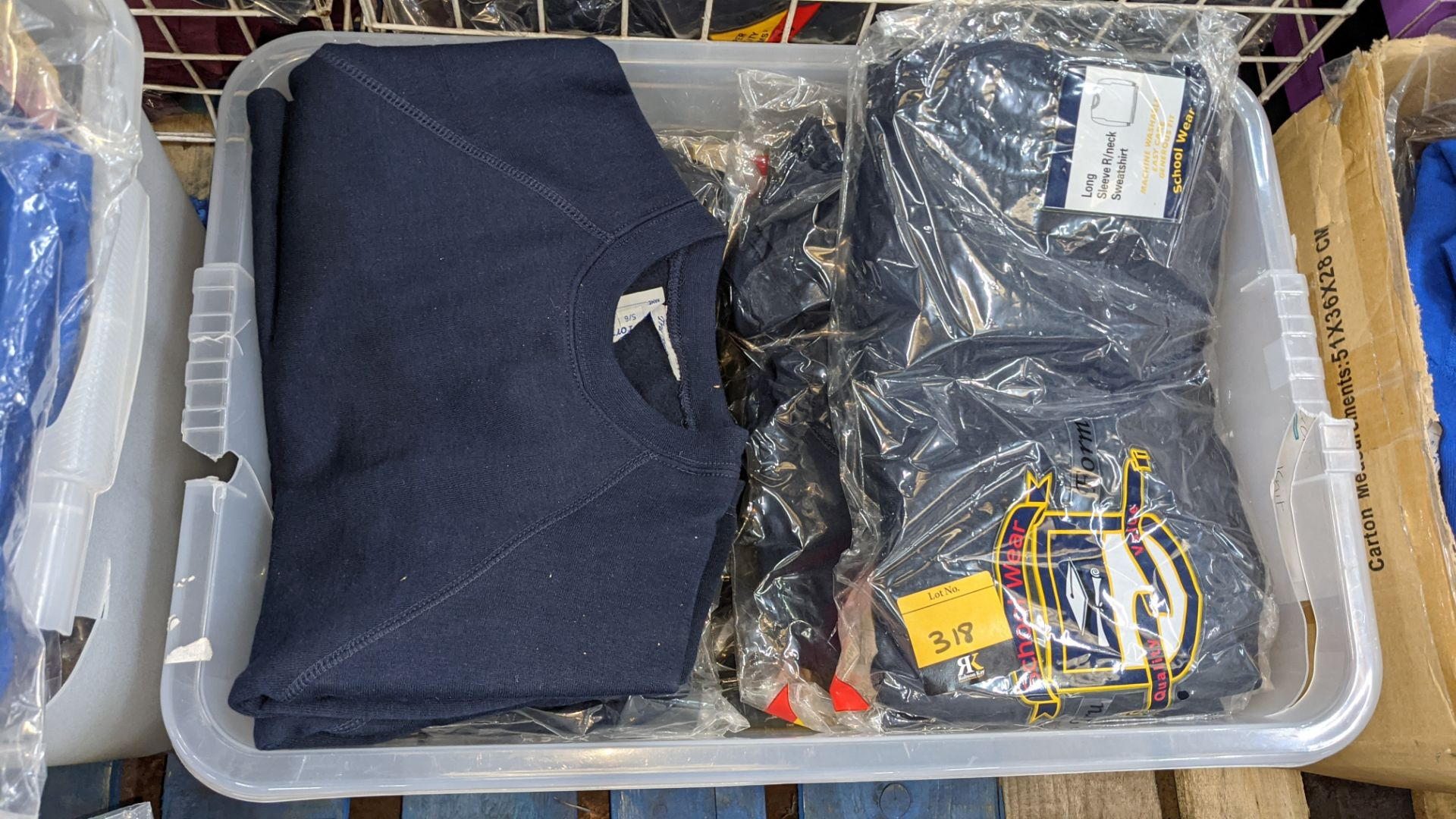 Approx 19 off blue children's sweatshirts & similar - the contents of 1 crate. NB crate excluded - Image 3 of 4