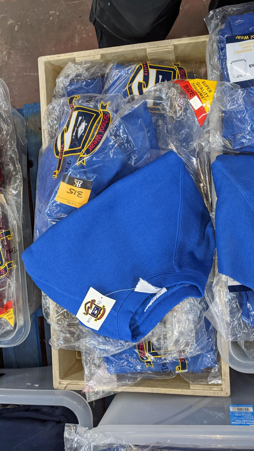Approx 17 off blue children's sweatshirts & similar - the contents of 1 crate. NB crate excluded - Image 6 of 6