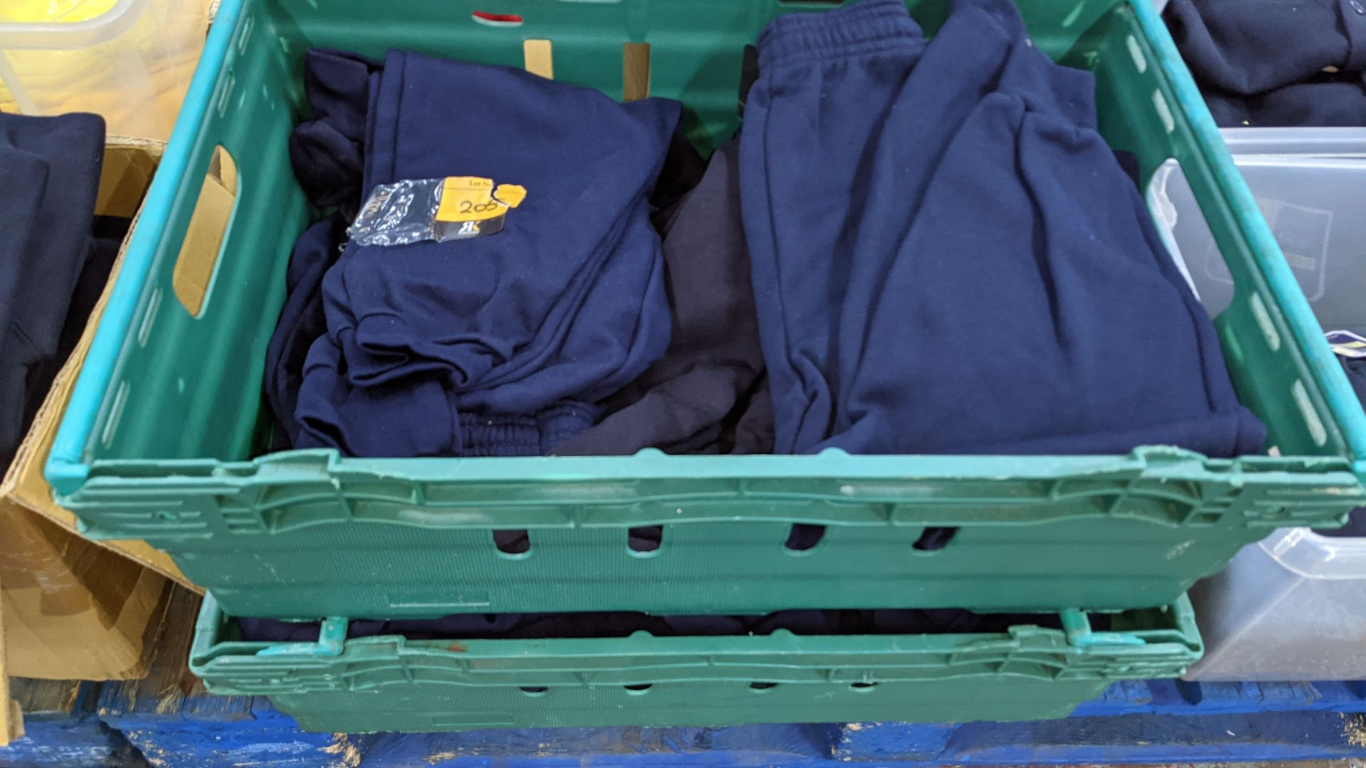 Approx 17 off children's blue tracksuit bottoms in assorted styles - the contents of 2 crates. NB c - Image 2 of 5