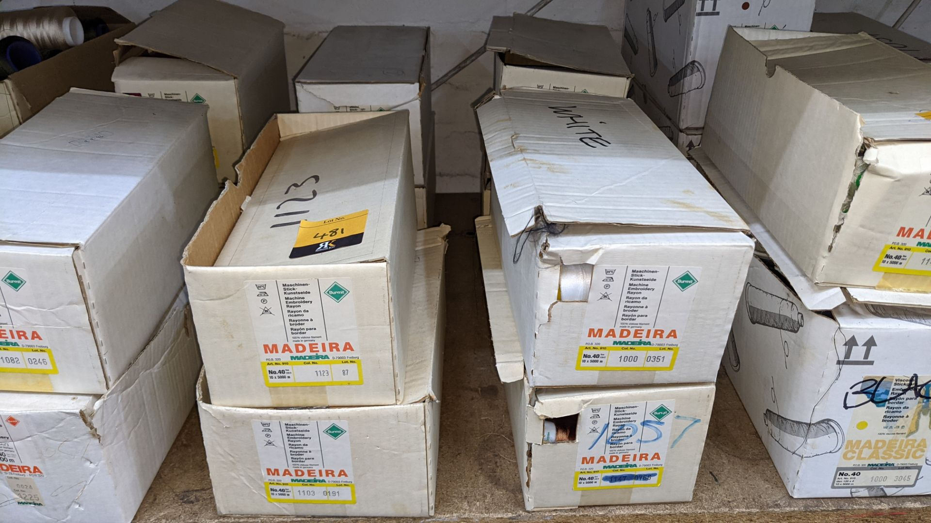 8 boxes of Madeira Burmit No. 40 rayon embroidery thread - Image 2 of 8