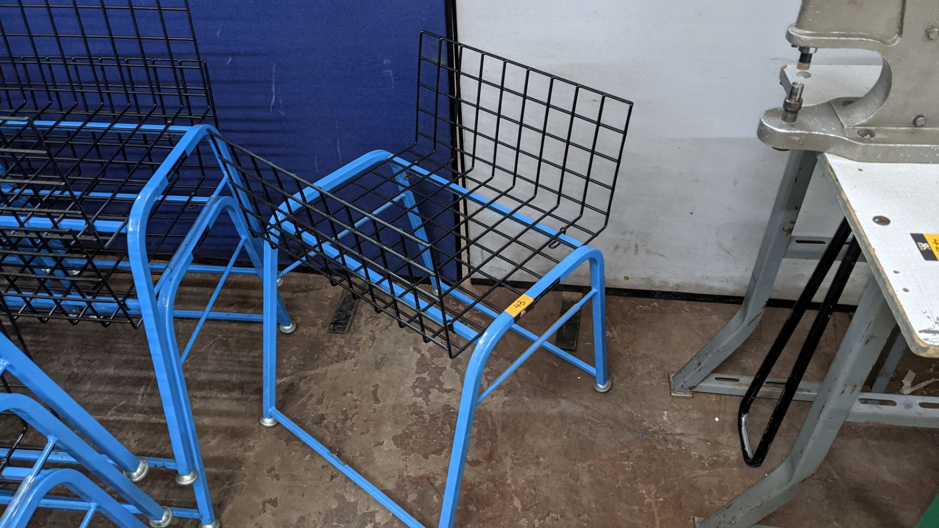 7 off matching blue stacking Steely mobile machinists baskets - Image 4 of 5